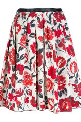 Jil Sander Pleated Floral Skirt