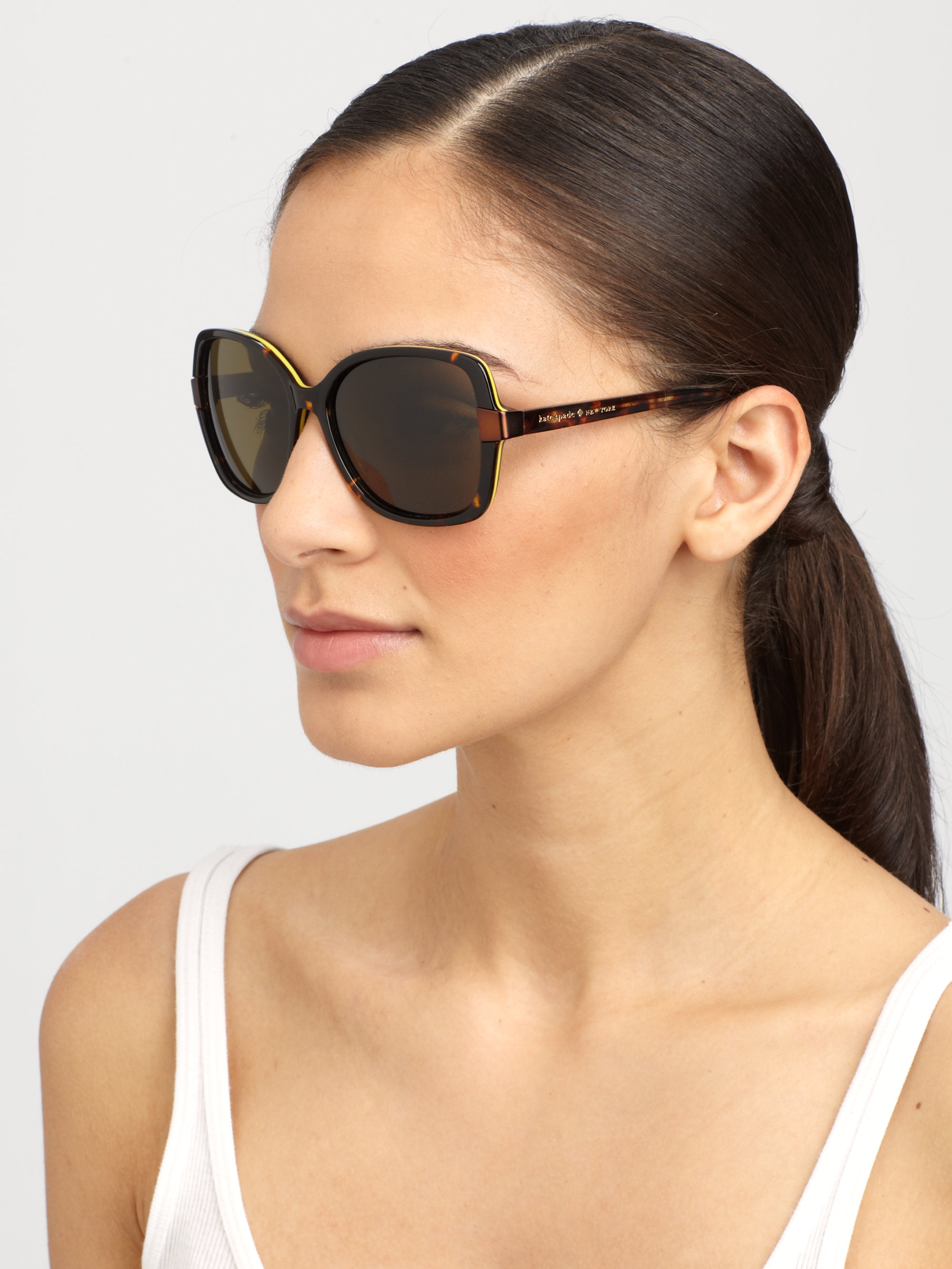 Kate Spade New York Adamina Acetate Polarized Sunglasses