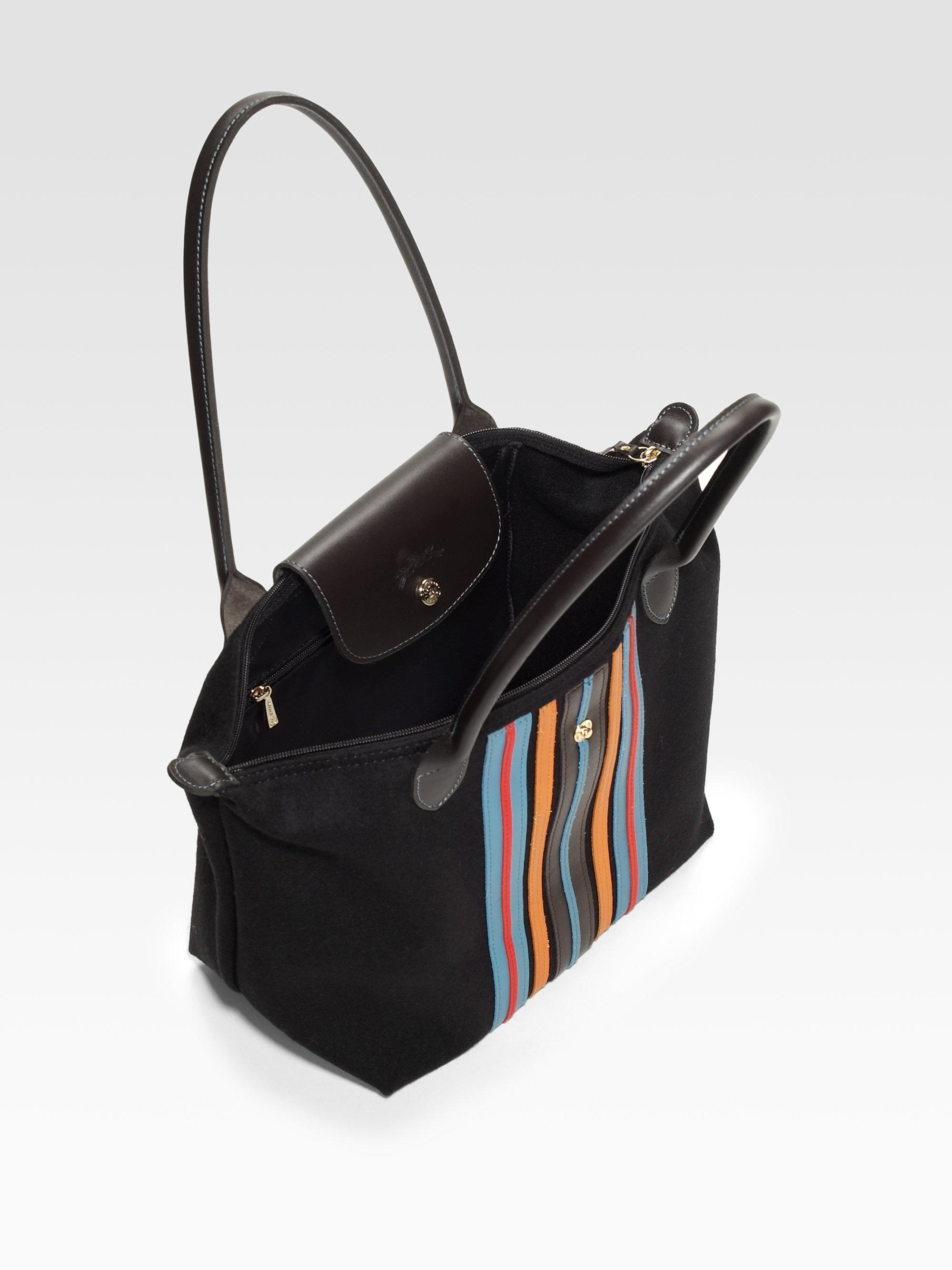 Lyst - Longchamp Le Pliage Plaid Small Tote Bag d184fae2d0e6a