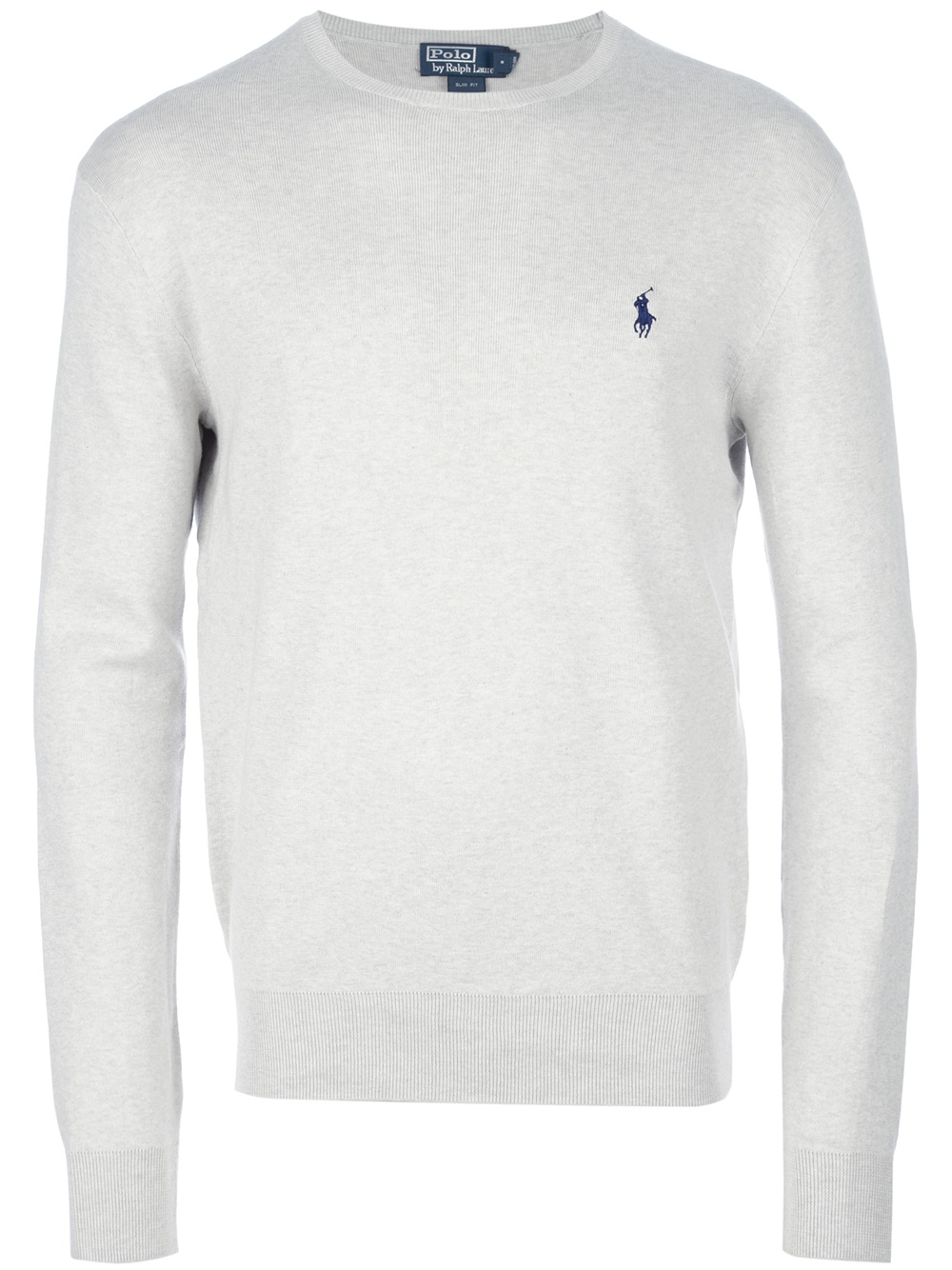 4bf57360f Polo Ralph Lauren Crew Neck Sweater in White for Men - Lyst