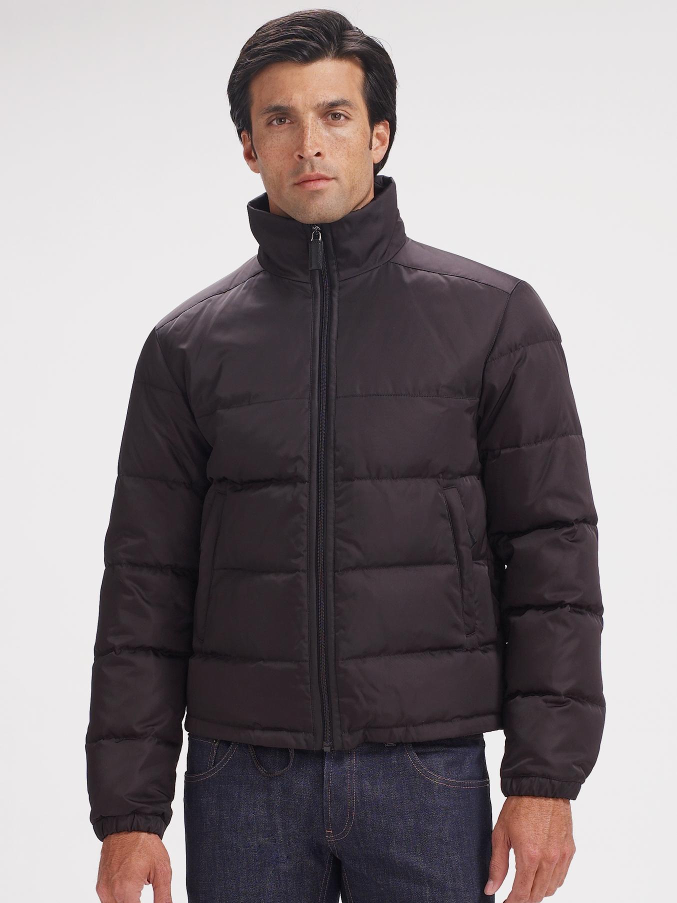 Lyst Prada Nylon Puffer Jacket In Black For Men