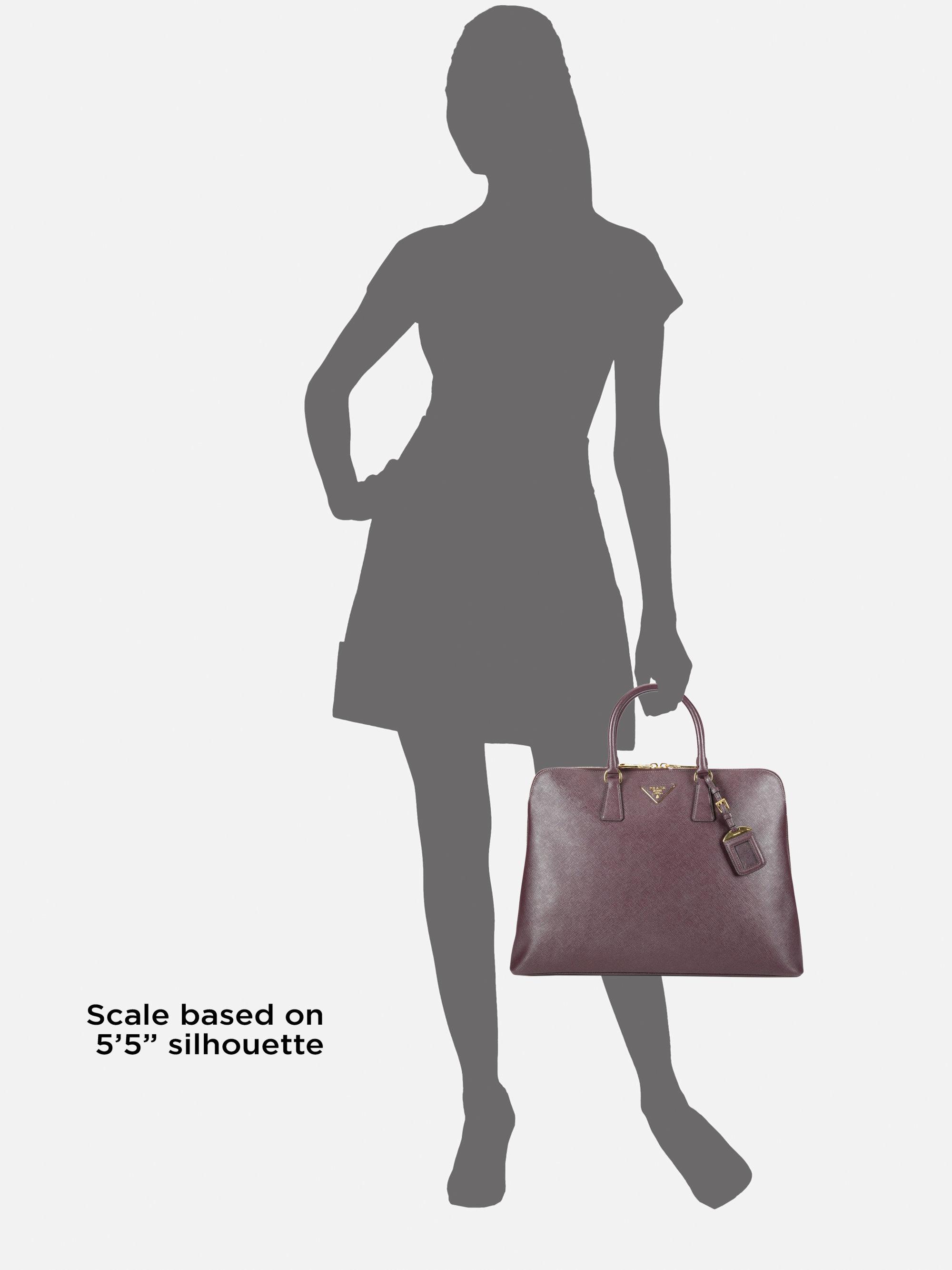 Prada Saffiano Lux Large Top Handle Bag in Purple (black) | Lyst