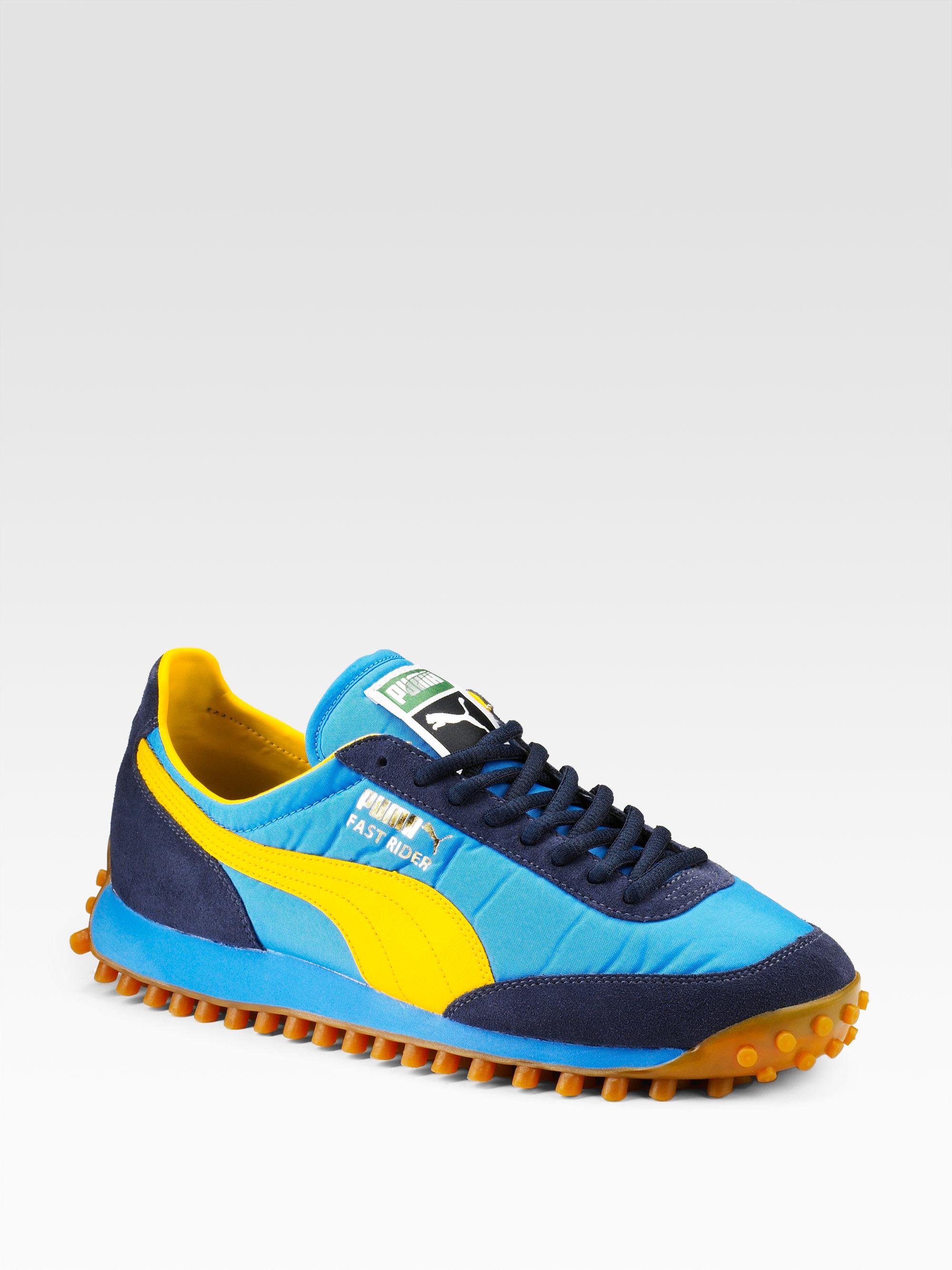 77dec366507 Lyst - PUMA Fast Rider Sneakers in Blue for Men