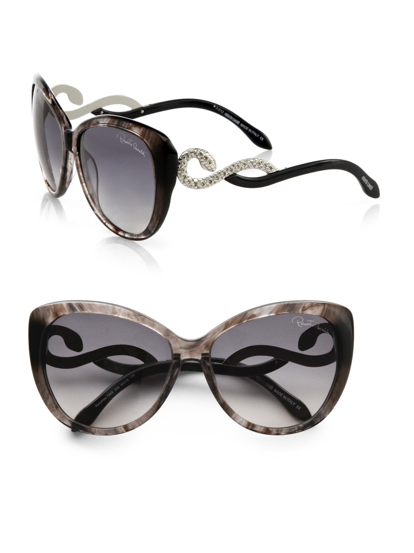 Roberto Cavalli Cat Eye Sunglasses Snake