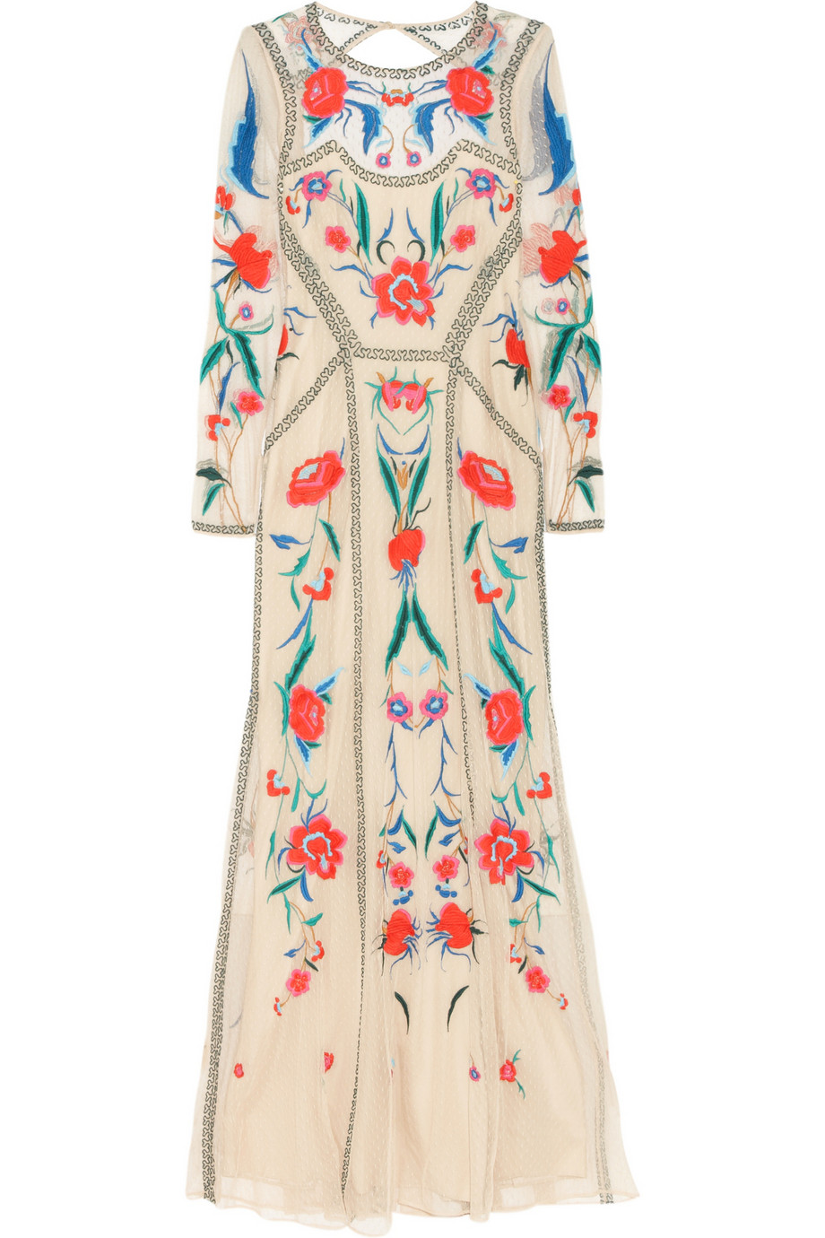 Temperley london long eliah flower show dress in natural