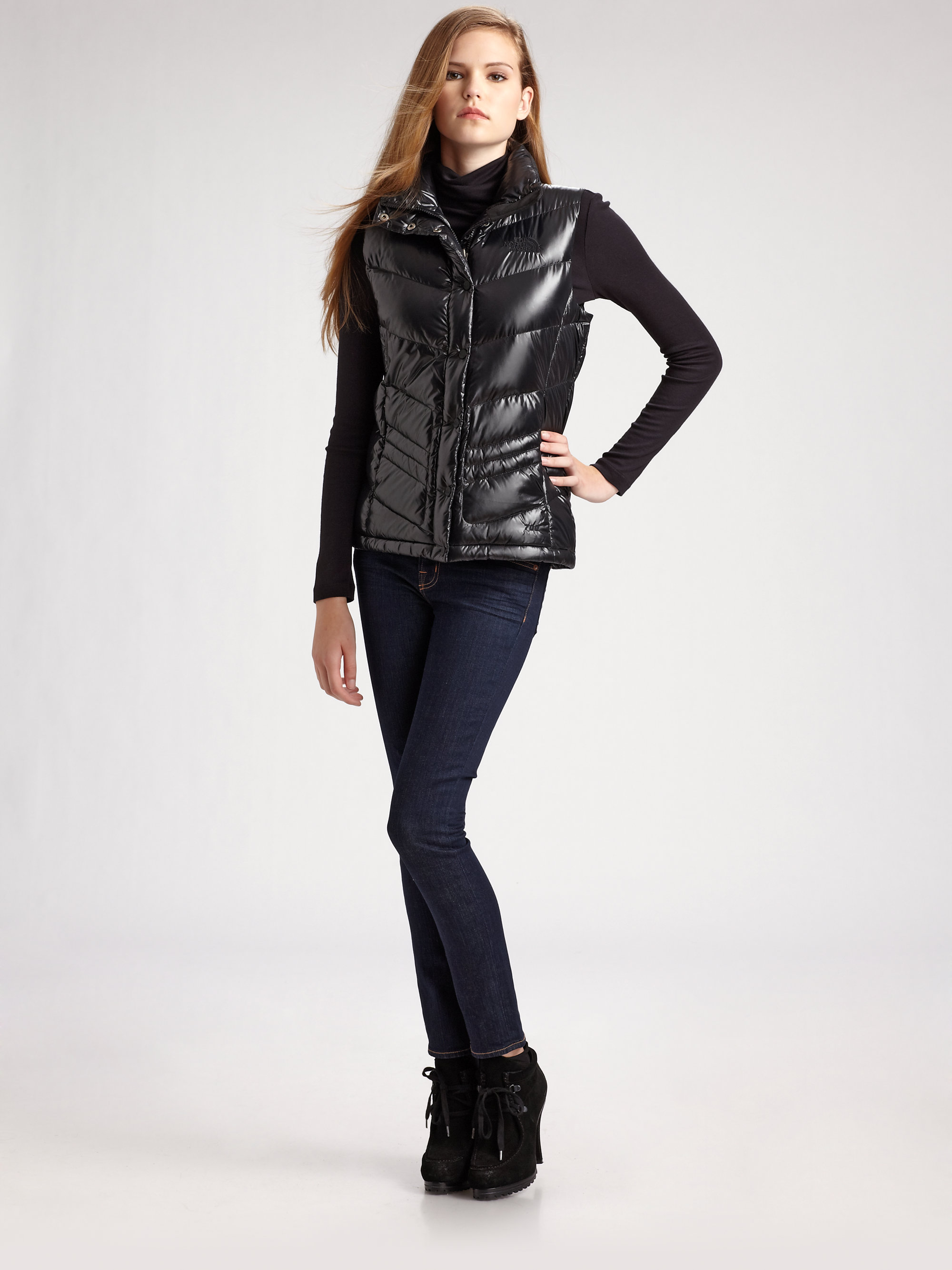 ... where to buy lyst the north face quilted puffer vest in black the north  face mens e1e489222