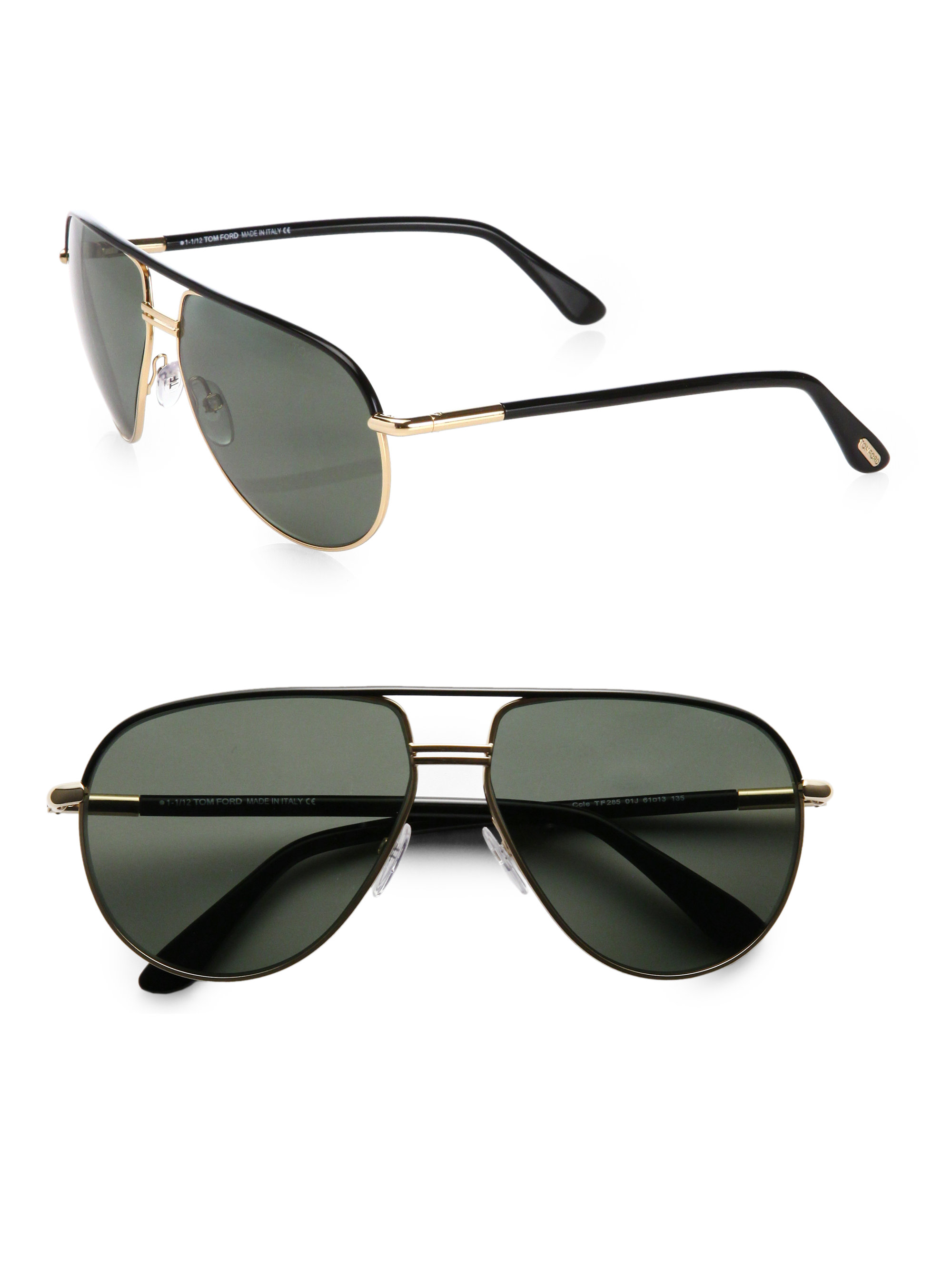 Ford Racing Sunglasses  tom ford cole polarized aviator sunglasses in black lyst