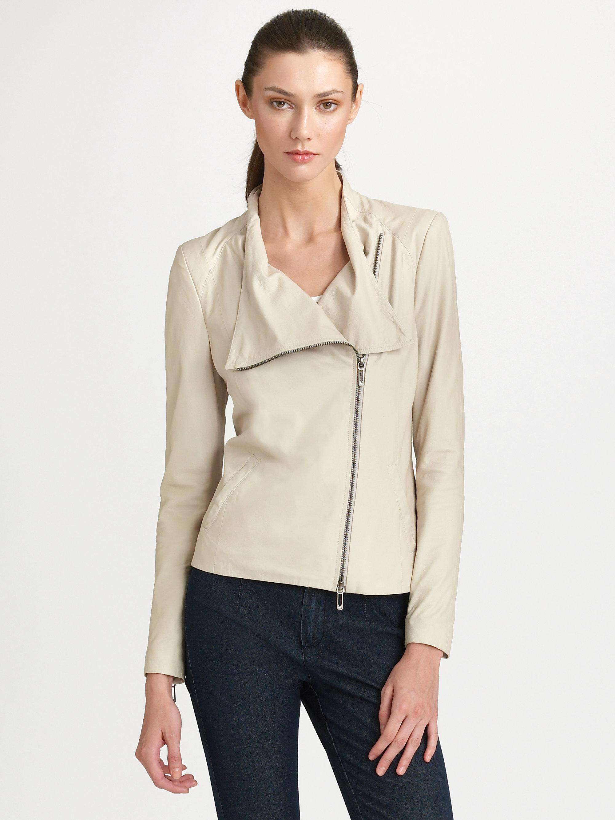 Vince paper leather jacket