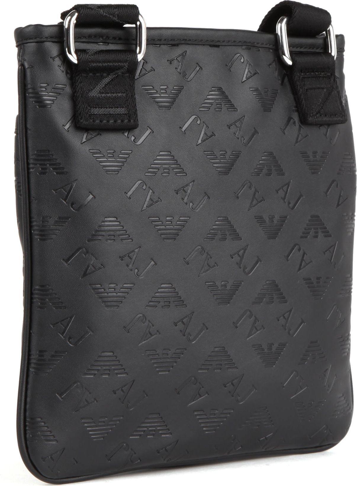 Armani Jeans Fauxleather Messenger Bag In Black For Men Lyst