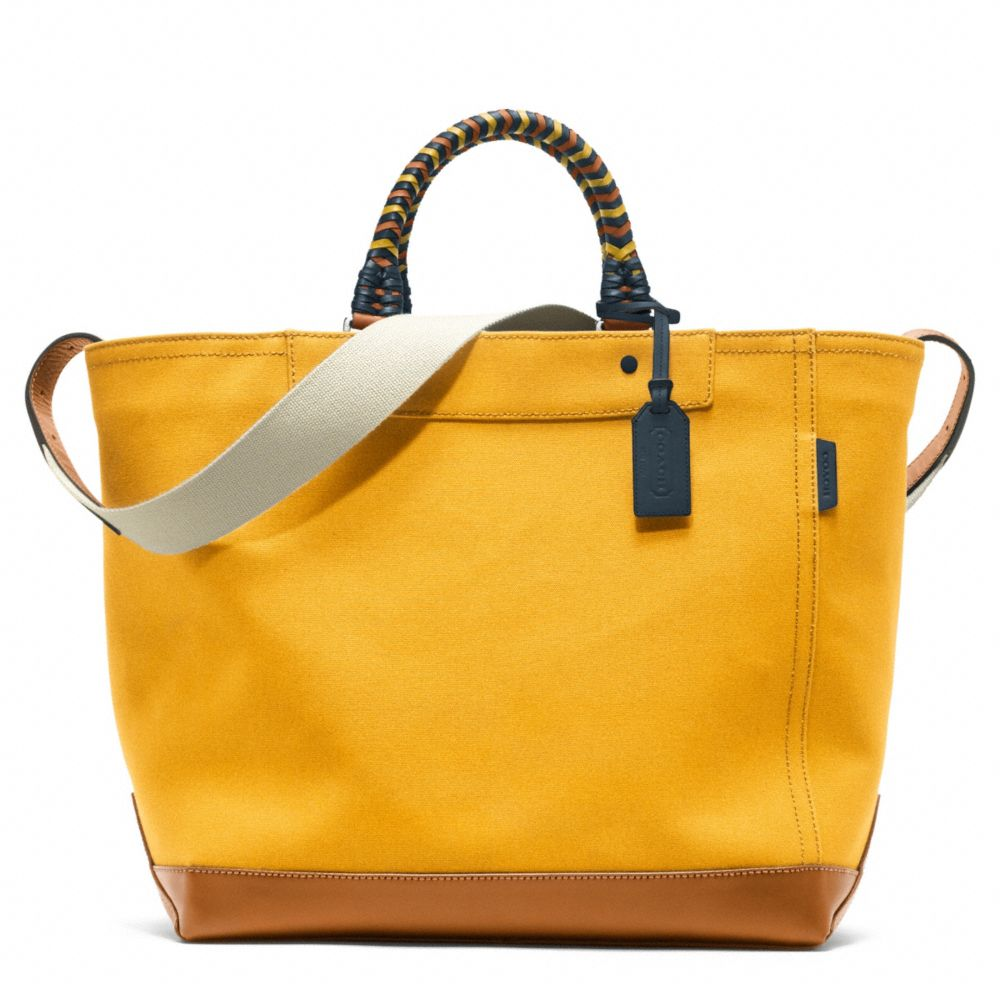 Coach Bleecker Beach Canvas Tote in Yellow | Lyst