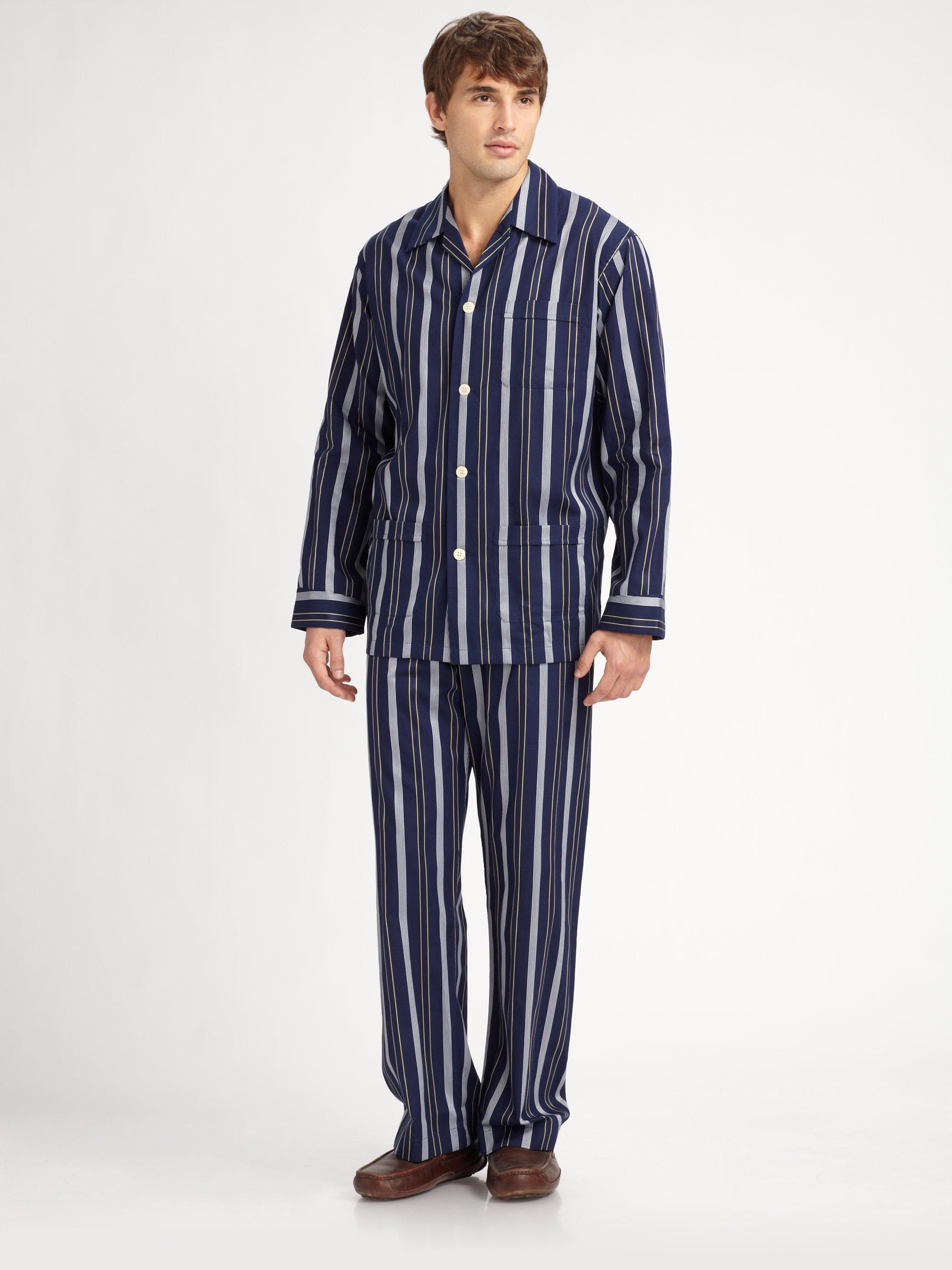 derek-rose-navy-eton-striped-pajamas-set