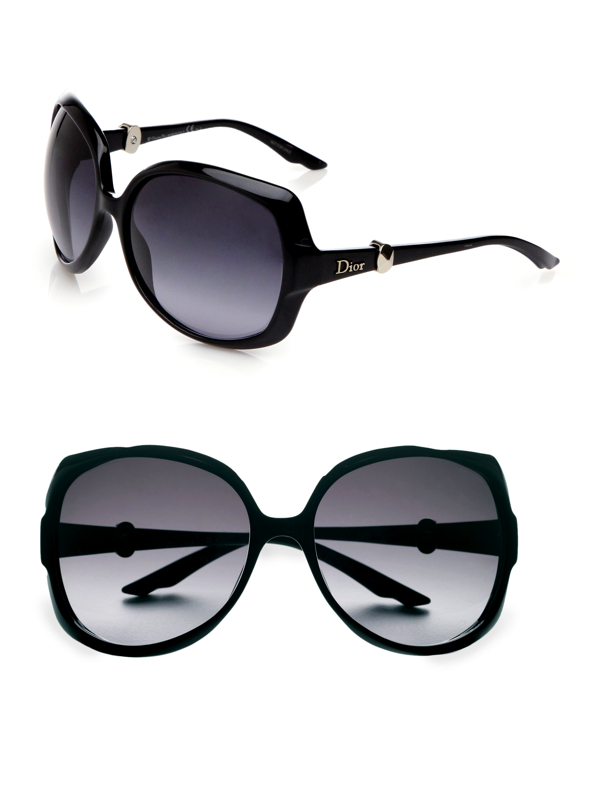 oversized square frame sunglasses - Metallic Dior Vzh8E