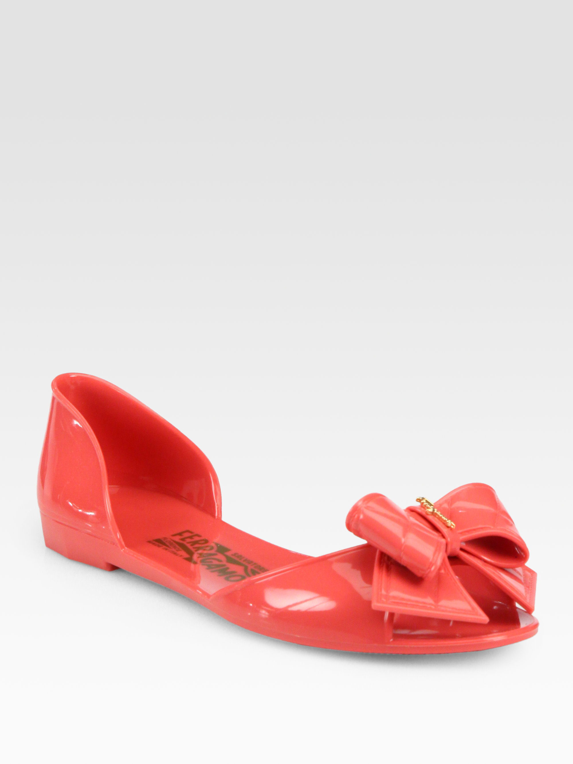 562757b1e8d9 Lyst ferragamo barbados jelly sandals in red jpg 2000x2667 Red jelly flats
