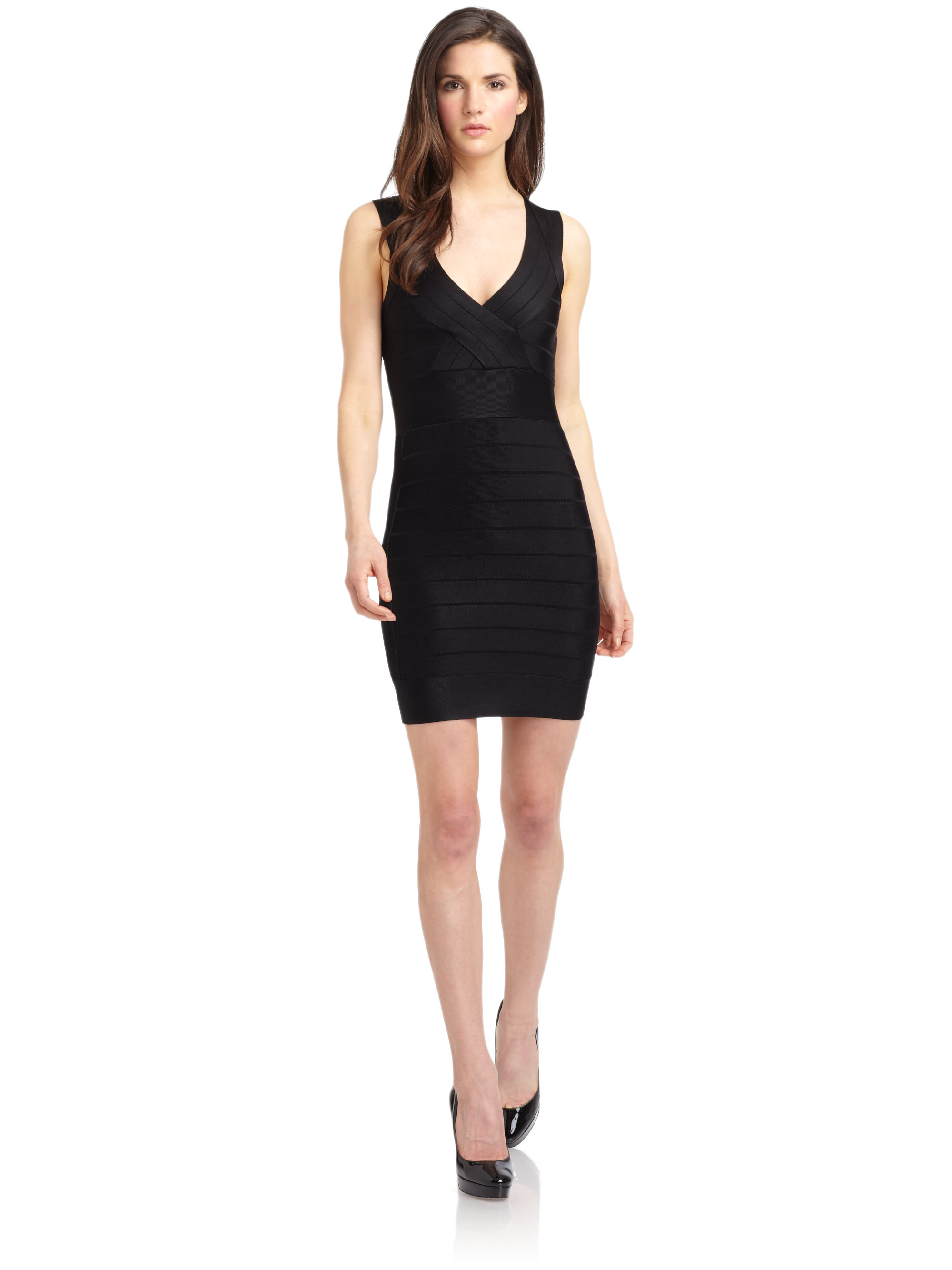 Lyst - French Connection Fast Spotlight Bandage Dress in Black