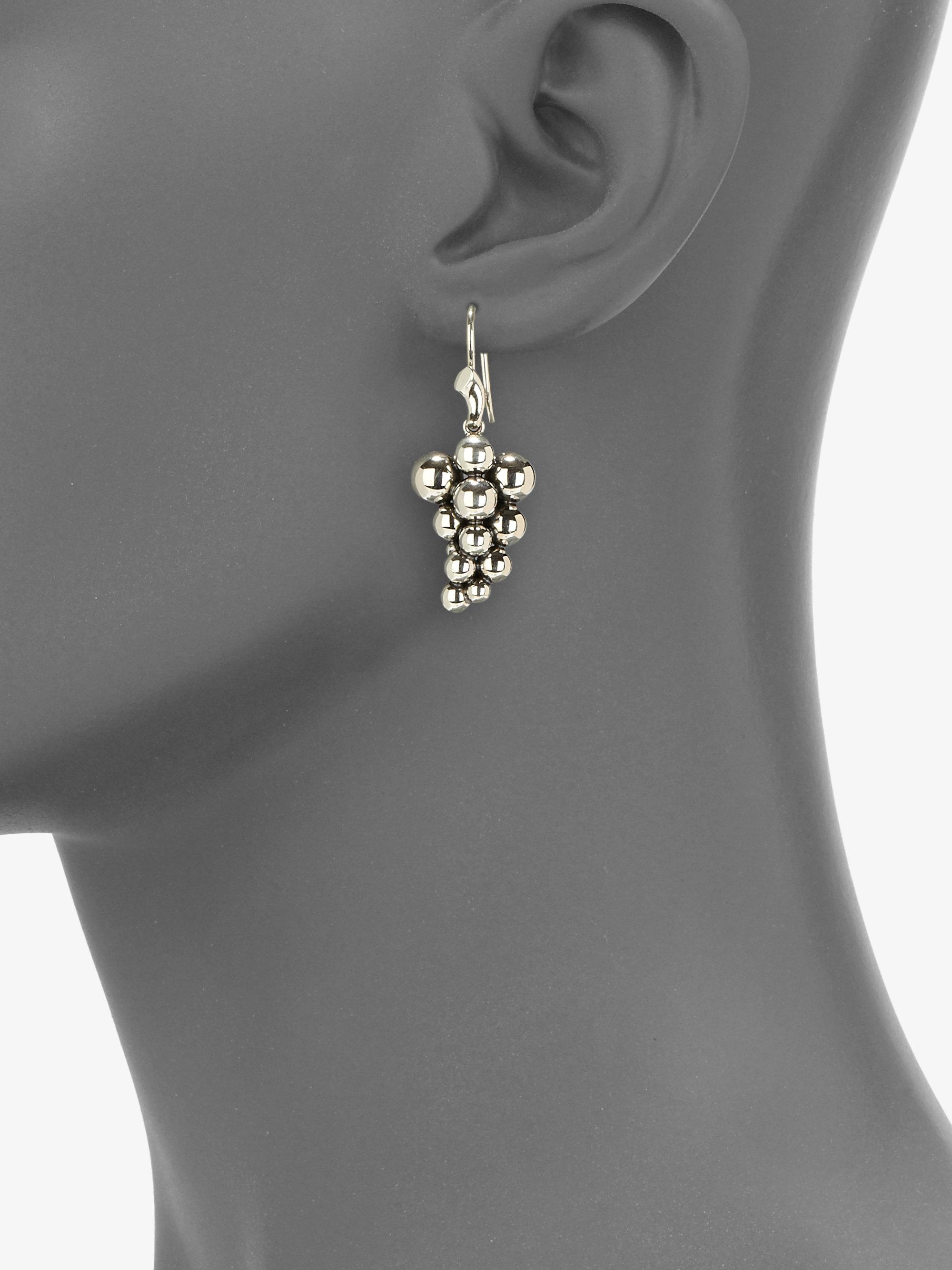 c006c9e7e Georg Jensen Sterling Silver Grape Earrings in Metallic - Lyst