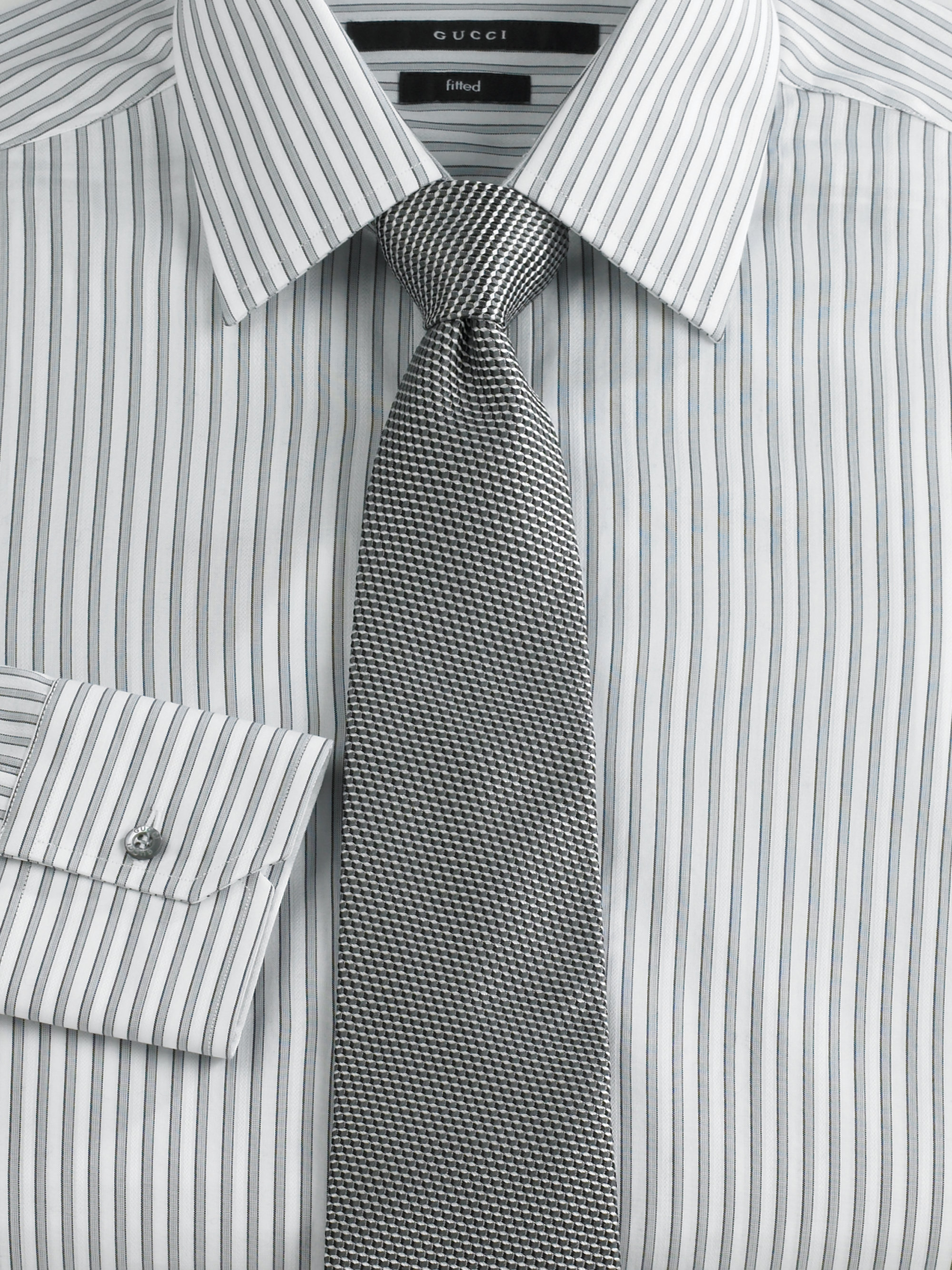 Mens Gray Striped Dress Shirts Cotswold Hire