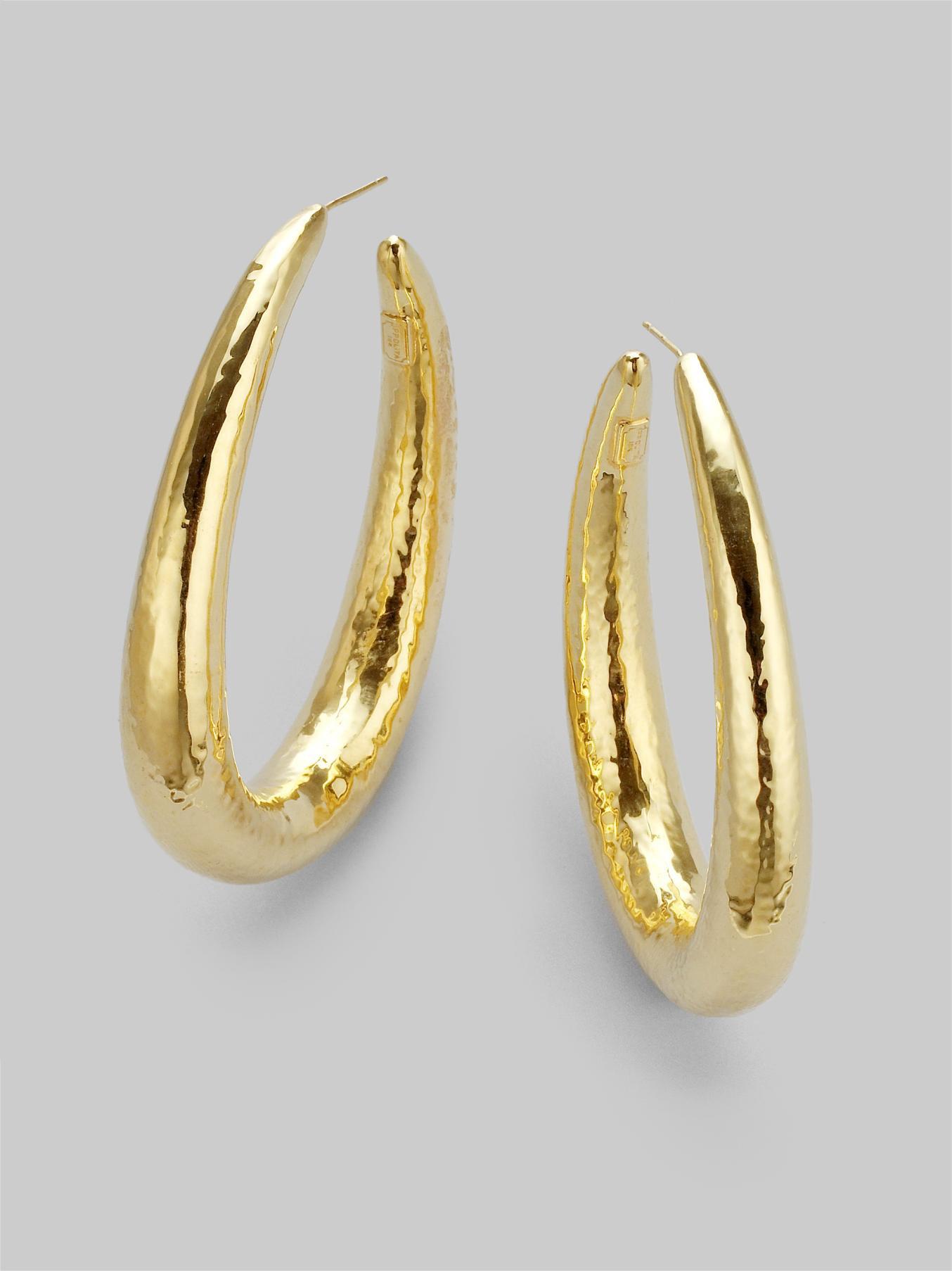 Ippolita Glamazon Yellow Gold Hoop Earrings DvM9MA