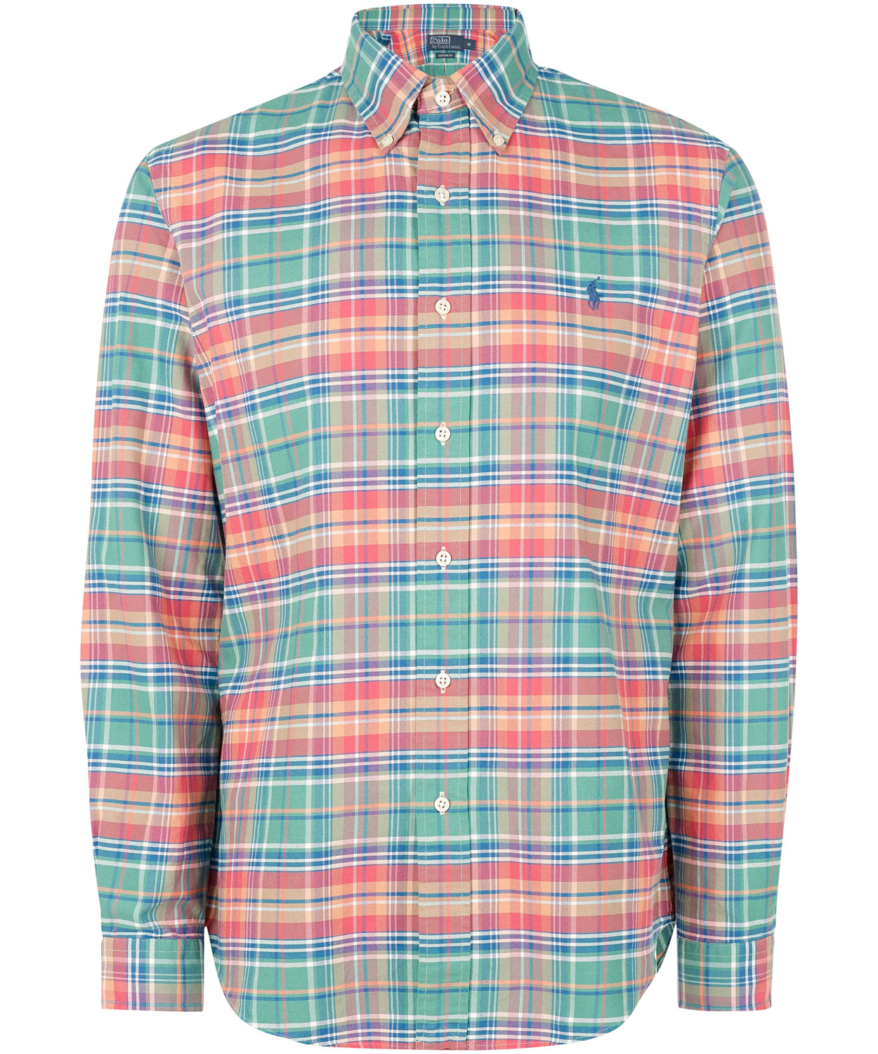 Polo ralph lauren Green and Pink Check Button-down Shirt in Green ...