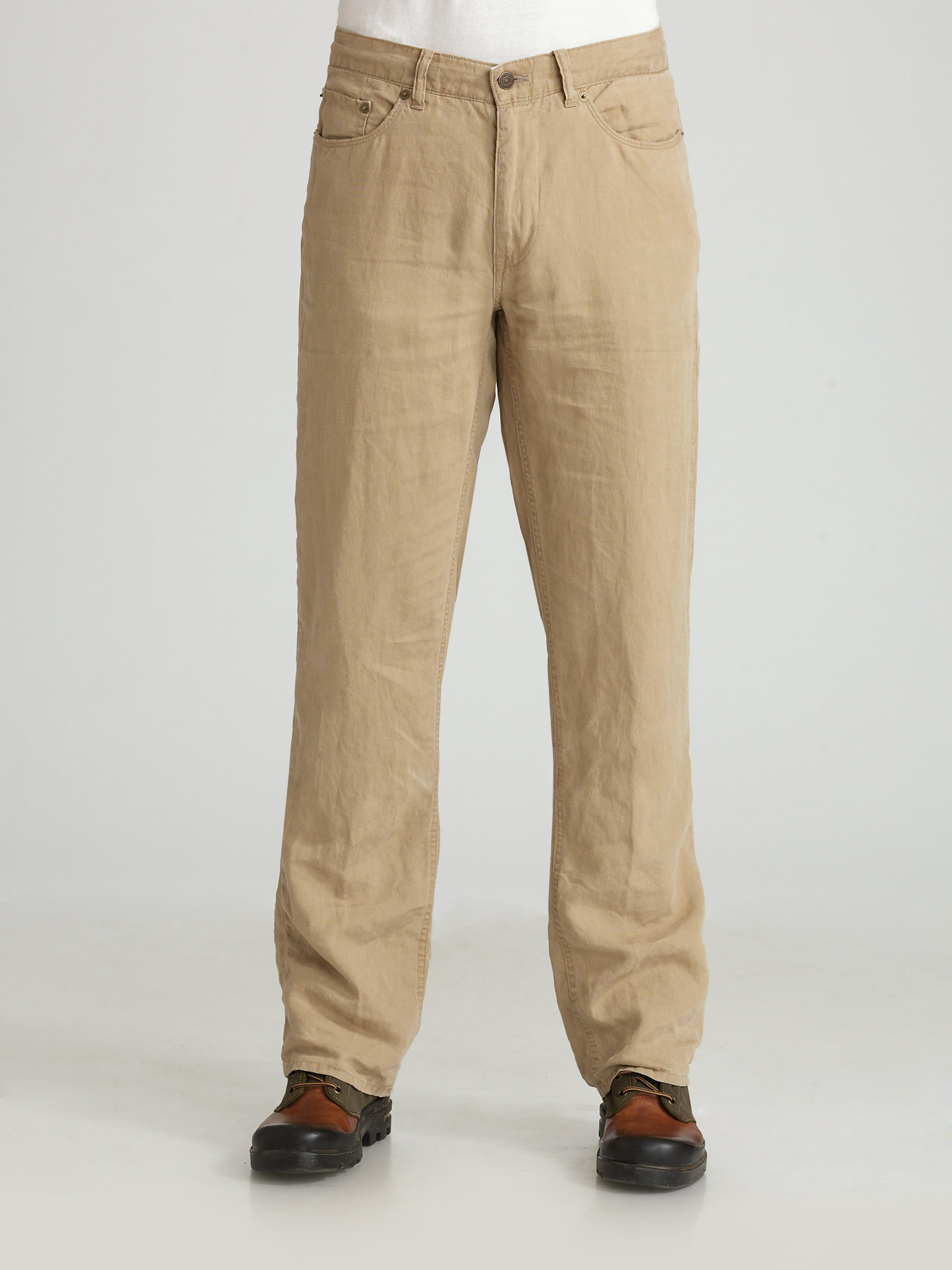 Polo ralph lauren Linen Pants in Natural for Men | Lyst