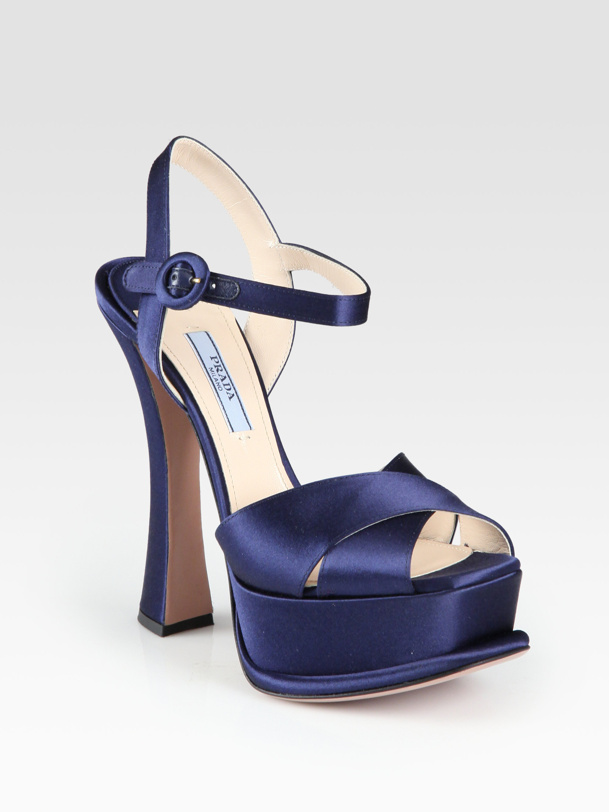 Prada Platform Satin Sandals cheap new arrival free shipping browse free shipping cheap real Z1CKJa