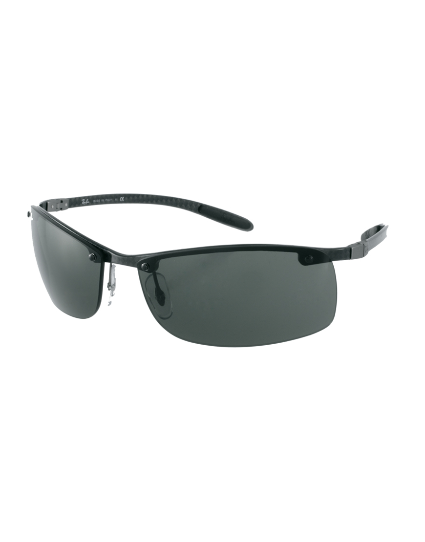 Rimless Glasses Ray Ban : Ray-ban Rimless Sunglasses in Black for Men Lyst