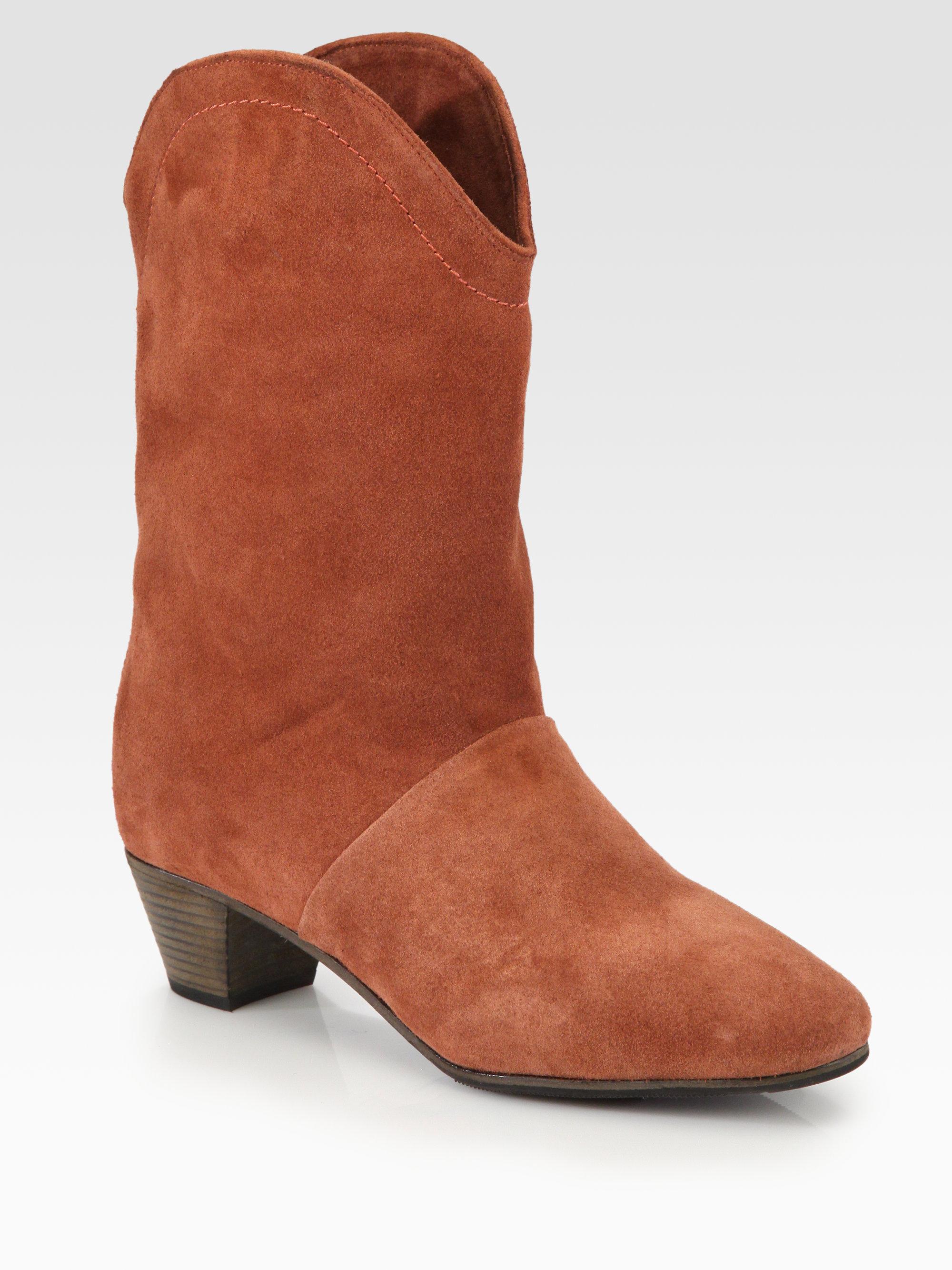vintage suede boot