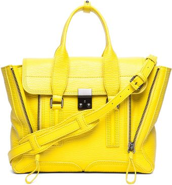 3.1 Phillip Lim Medium Pashli Shark Embossed Satchel in Electric Yellow - Lyst