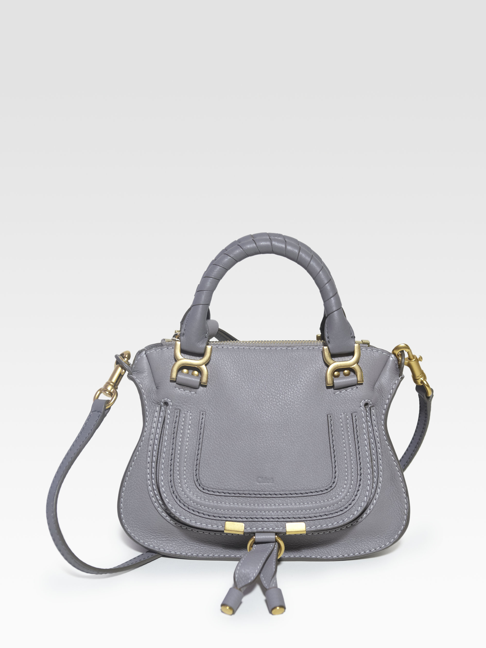 fake chloe purse - Chlo�� Marcie Mini Crossbody Bag in Gray (cashmere grey) | Lyst