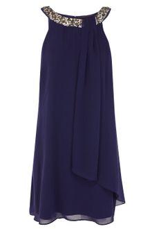 Coast Dress on Coast Leonara Embroidered Dress In Blue  Blues    Lyst