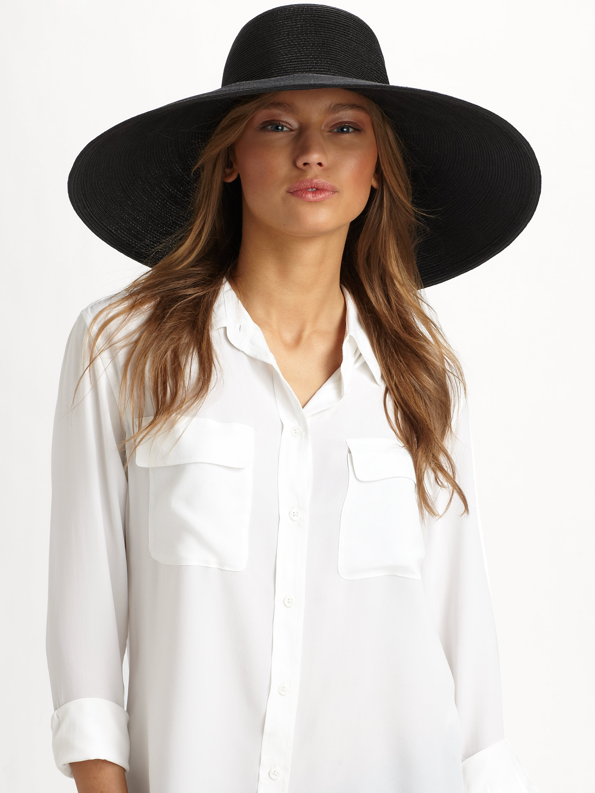 4a98f24a0 Eric Javits Oversized Floppy Hat in Black - Lyst