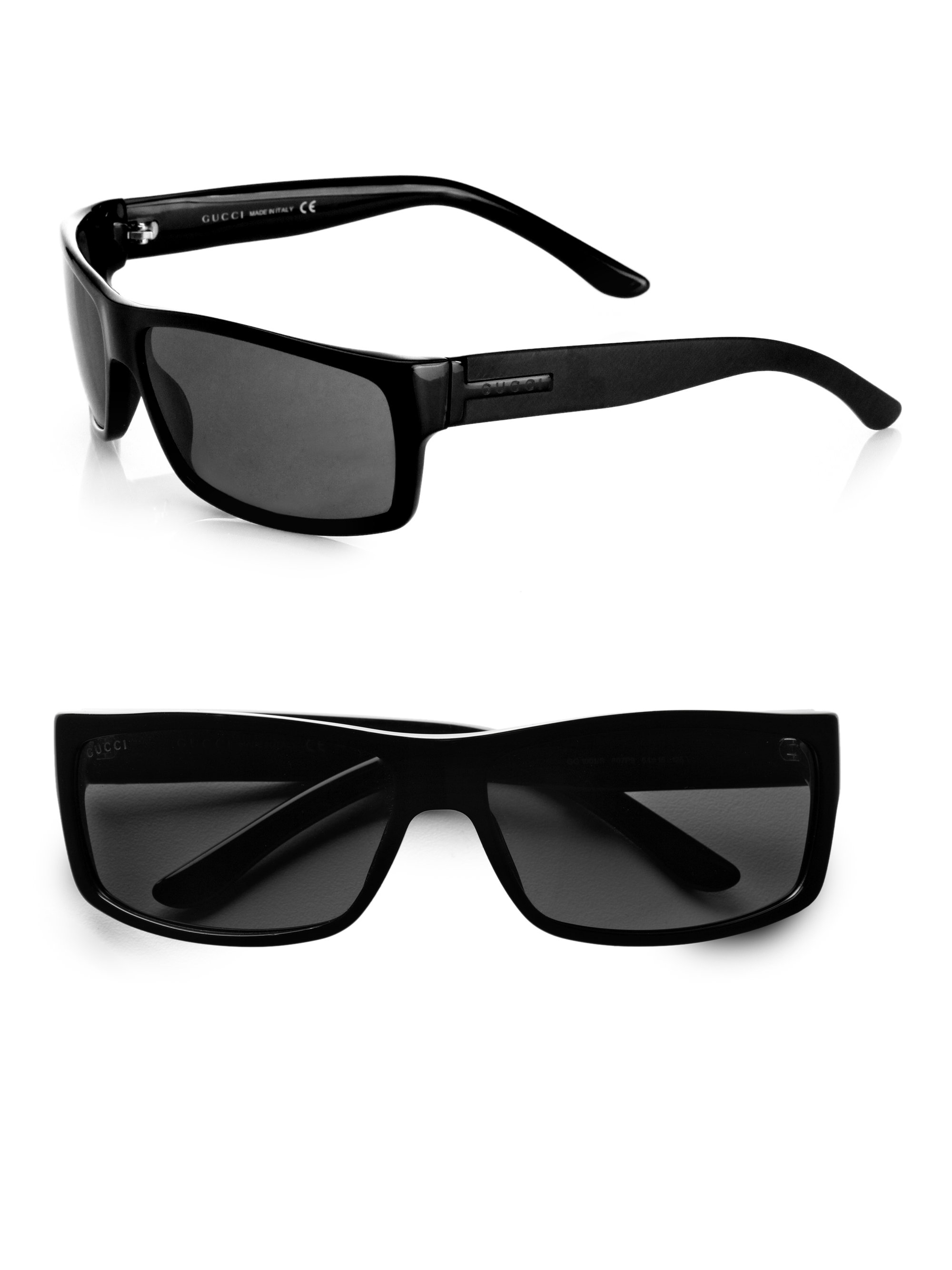 Men Gucci Sunglasses  gucci rectangular sunglasses in black for men lyst
