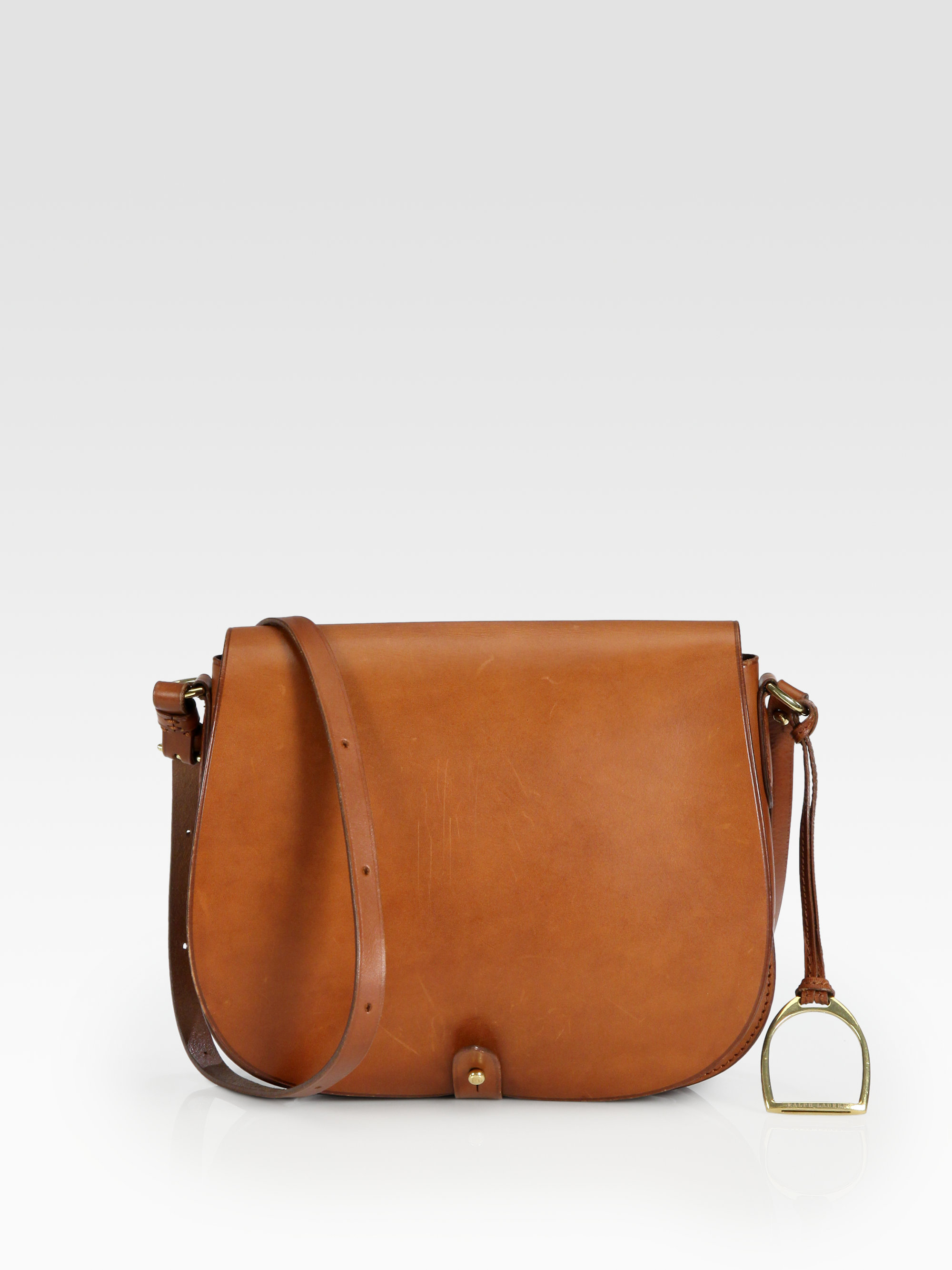 a05310d1c6e2 Lyst - Ralph Lauren Collection Rl Medium Saddle Shoulder Bag in Brown