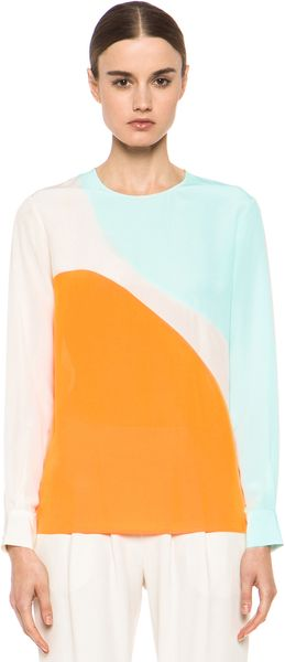 Stella McCartney Crepe De Chine Blouse  - Lyst