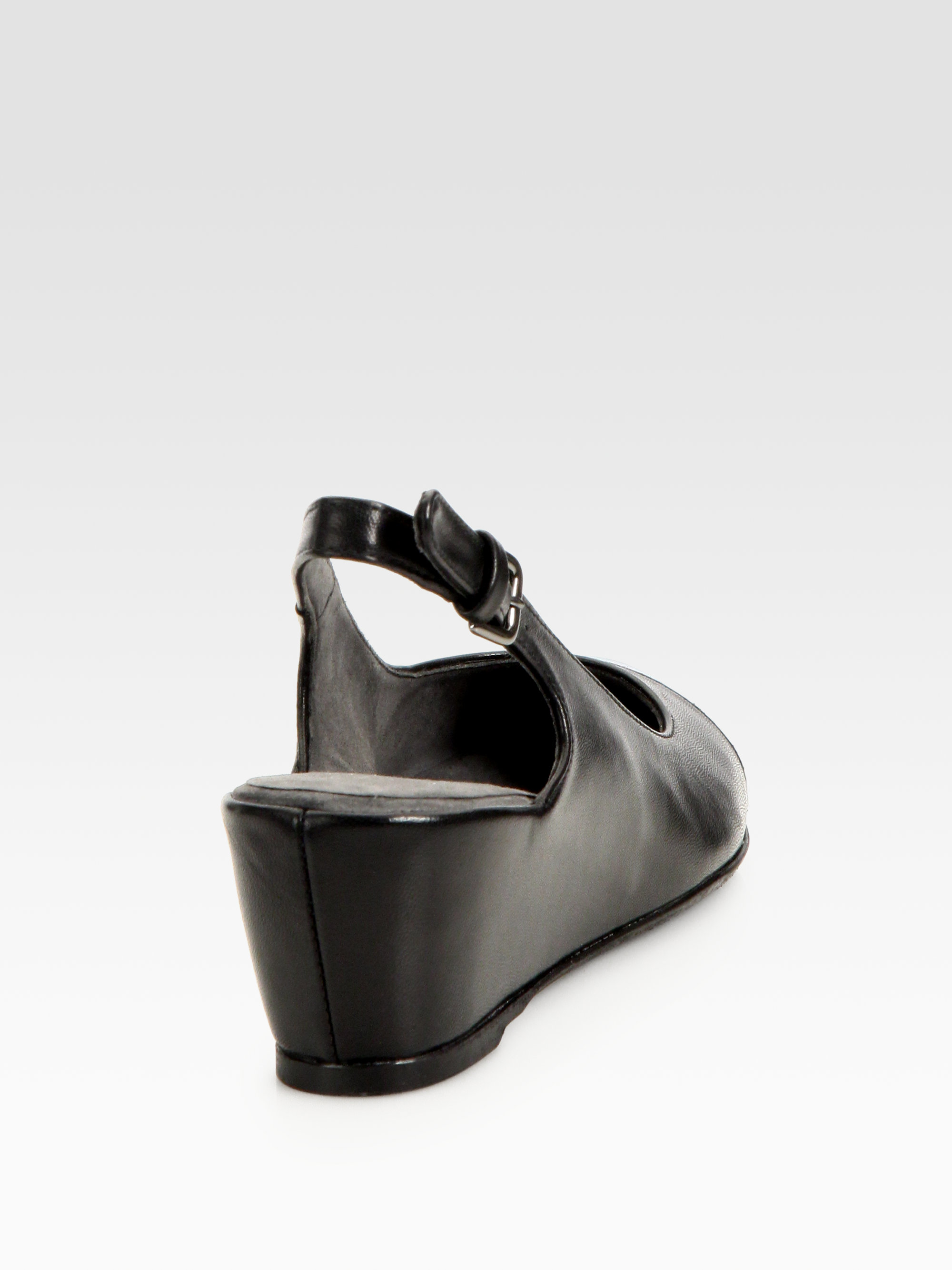 Lyst Stuart Weitzman Tipin Leather Patent Leather