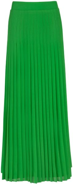 Ted Baker Miquaj Pleated Maxi Skirt in Green