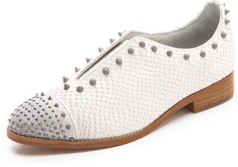 Zadig & Voltaire Phoebe Studded Laceless Oxfords - Lyst