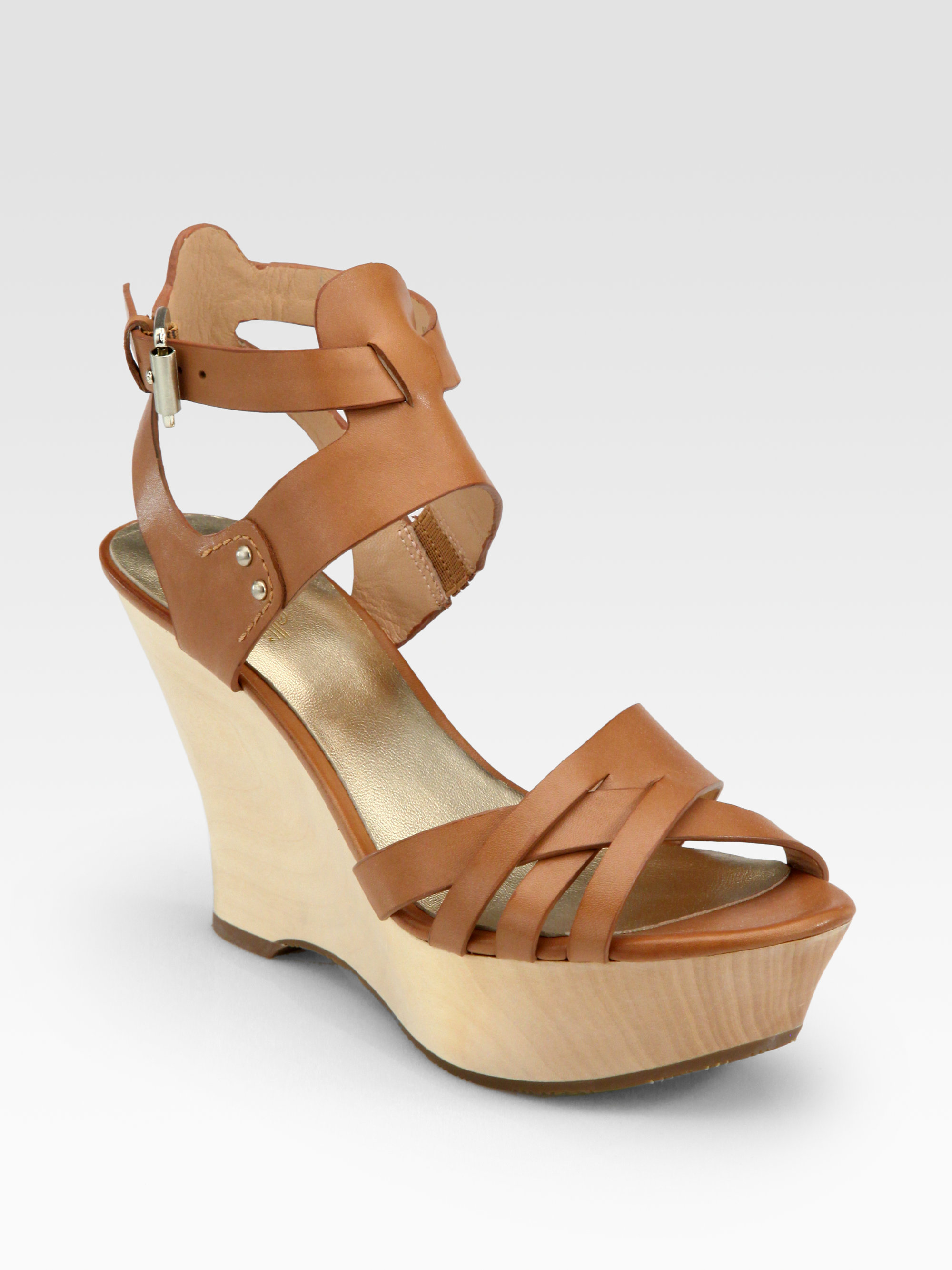 cheap online store outlet amazon Belle by Sigerson Morrison Embossed Wedge Sandals wide range of PuMyvY