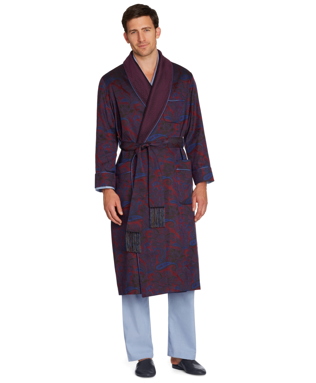 another chance attractive & durable diverse styles Brooks Brothers Silk Paisley Dressing Gown in Dark Red (Red ...