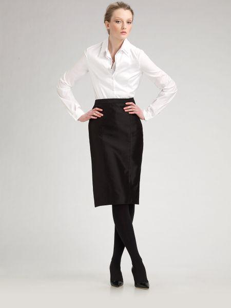 Carolina herrera doublecollar shirt in white lyst for Carolina herrera white shirt collection