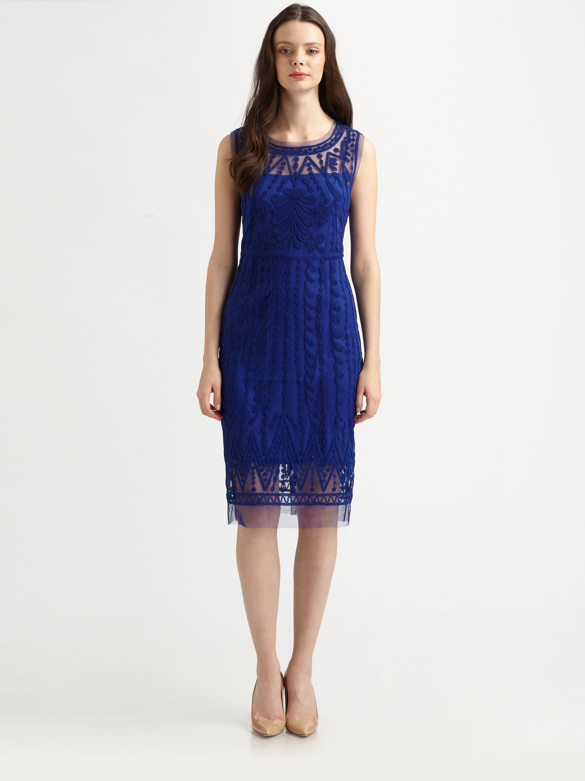 Lyst Catherine Malandrino Embroidered Favorites Dress In