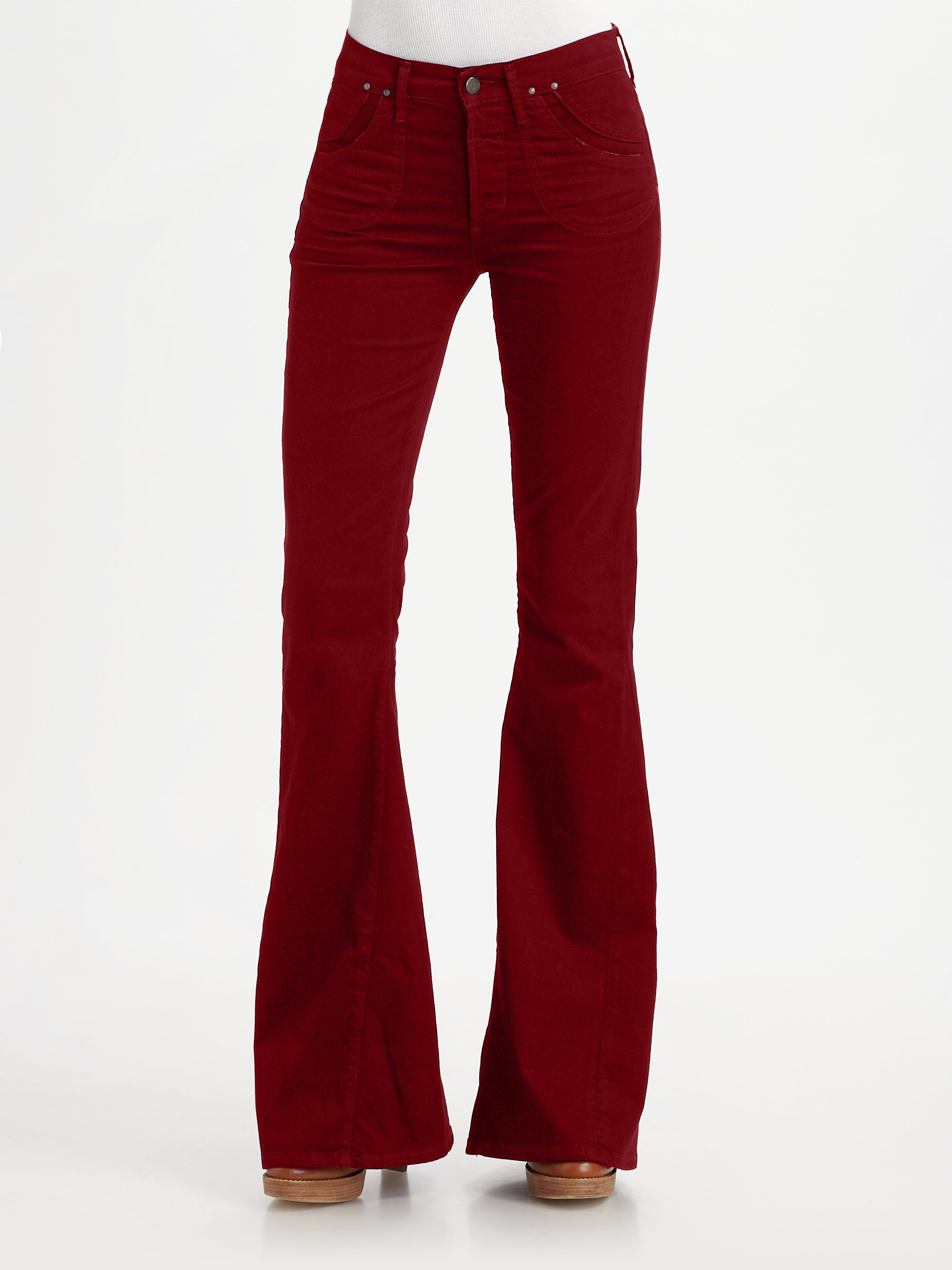 Citizens of humanity Angie Super Flare Jeans in Red | Lyst