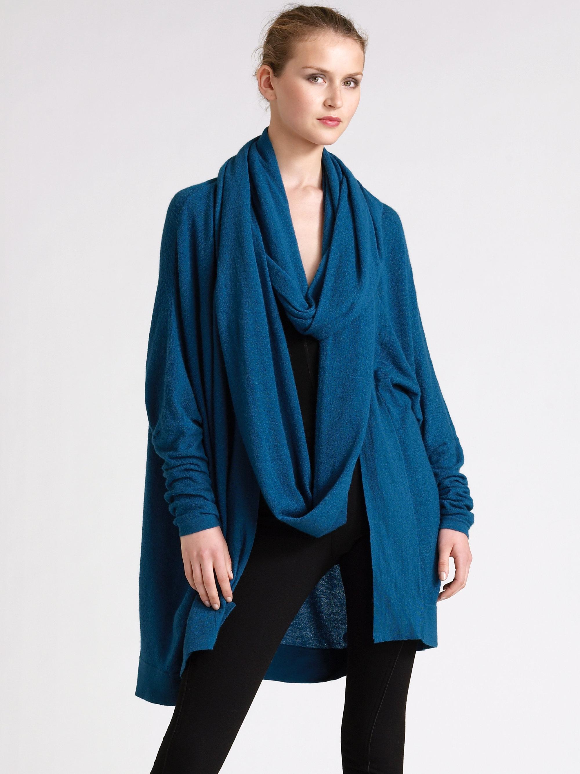 lyst donna karan cashmere infinity scarf in blue for men. Black Bedroom Furniture Sets. Home Design Ideas