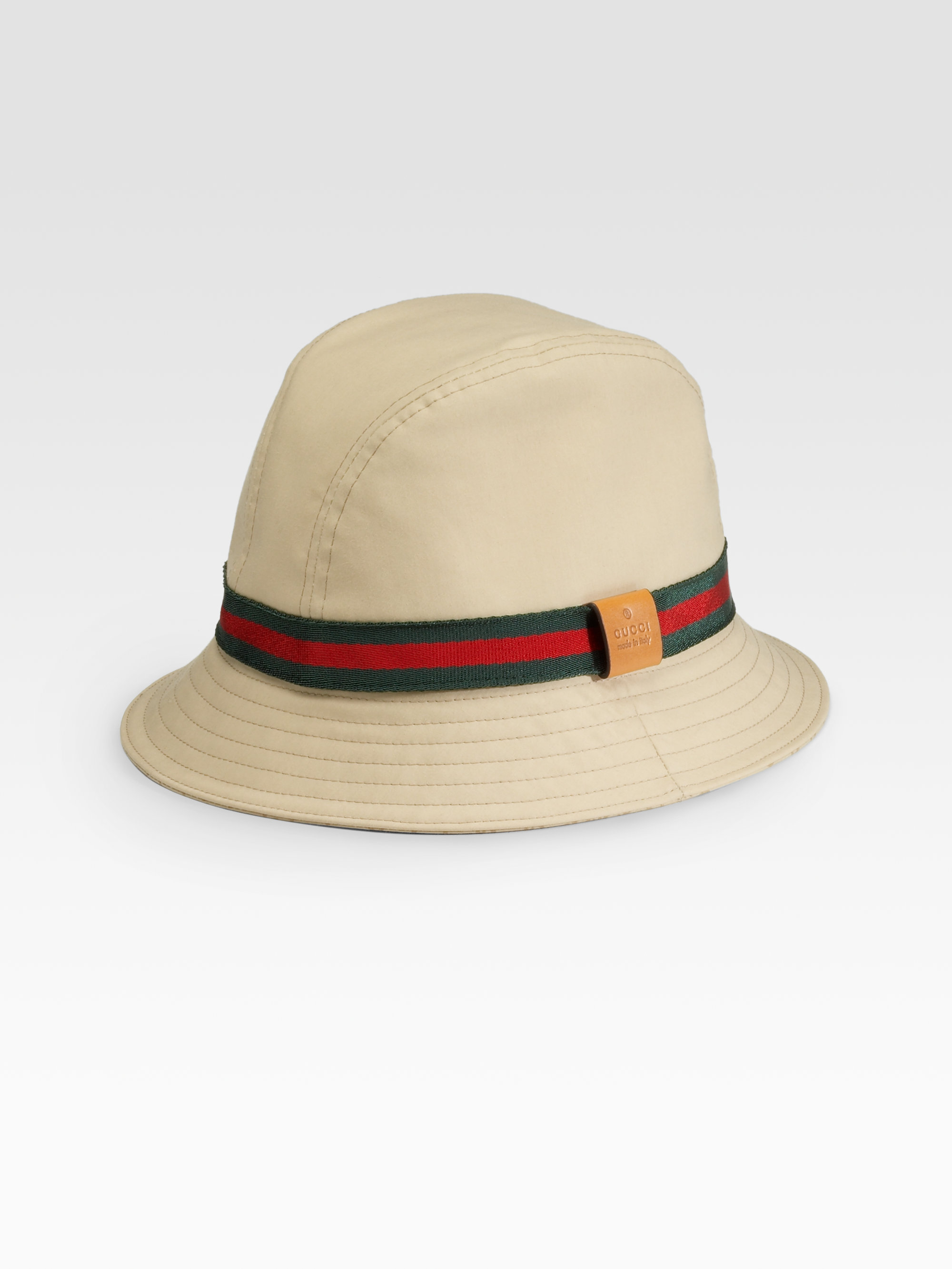 Lyst - Gucci Bucket Hat in Natural for Men bc19b742008