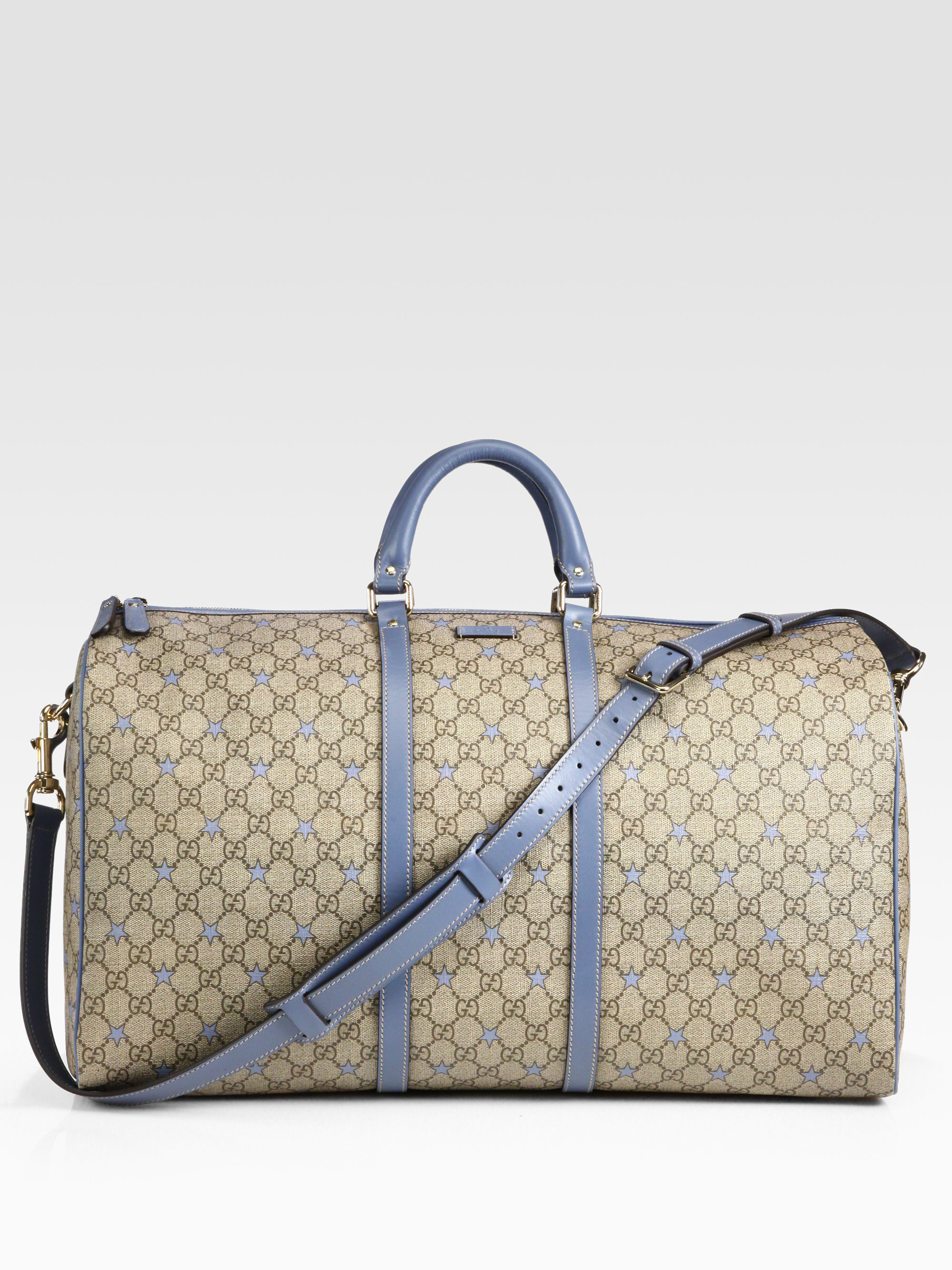 eaa6d75dd14 Gucci Large Gg Pu Stars Fabric Carryon Duffel in Natural for Men - Lyst
