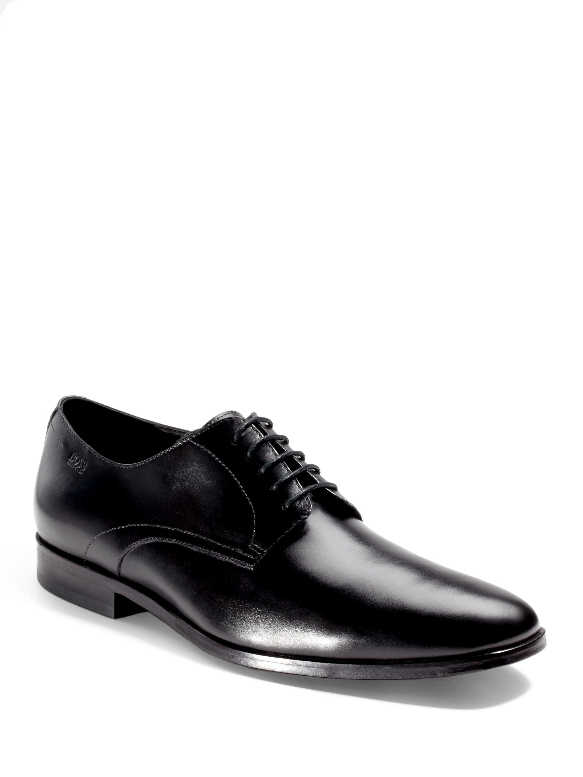 hugo mitano plaintoe oxford dress shoes in black for