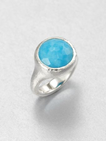 Ippolita Turquoise and Sterling Silver Tapered Ring - Lyst