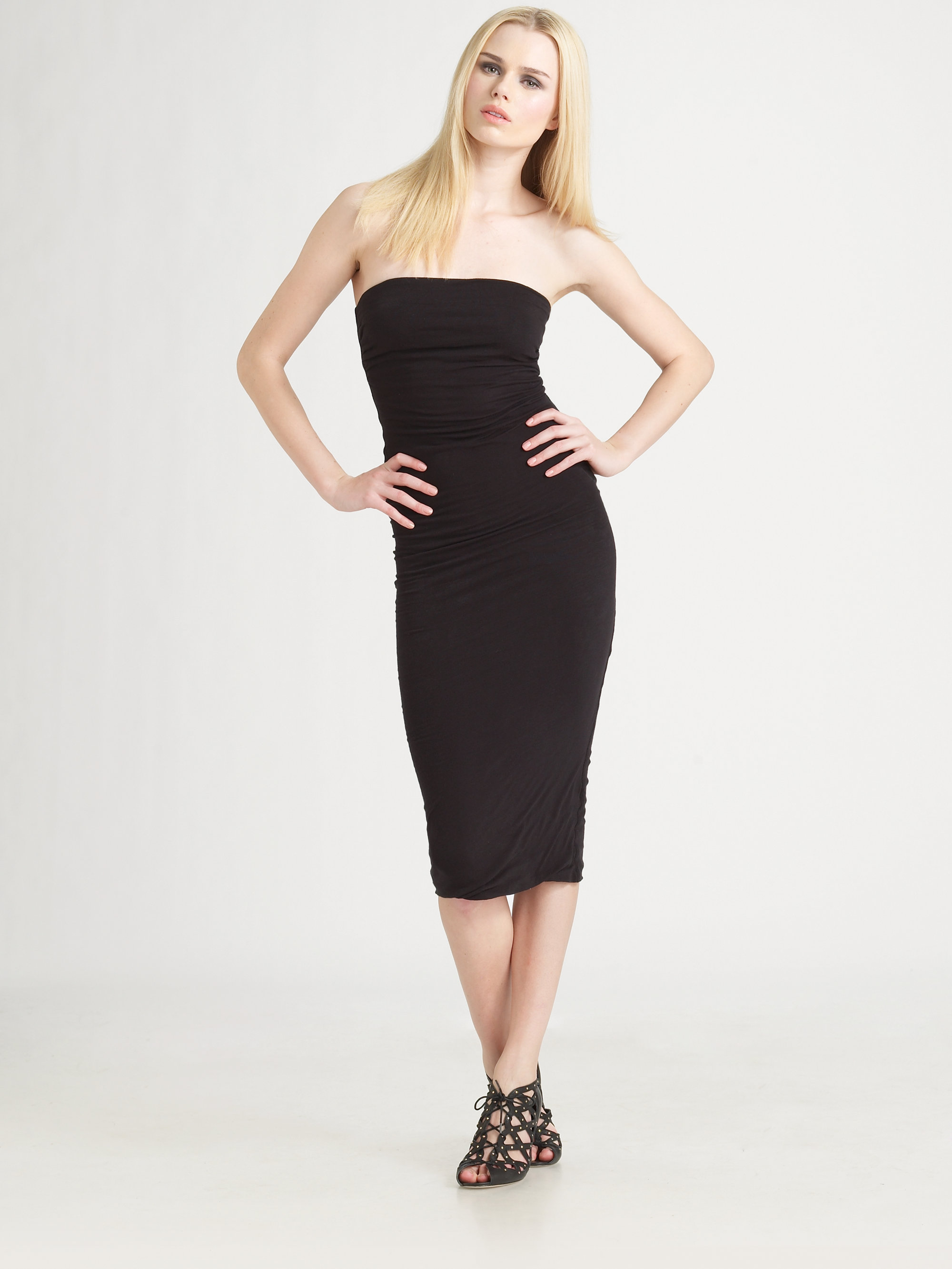 Bebe Strapless Tube Top Midi Dress Women's Dress. Stop everyone in their tracks with your look in the bebe Strapless Tube Top Midi downloadsolutionspa5tr.gqess midi dress offers a fit look. Straight hemline. Back zipper closure. Unlined. 95% polyester 5% spandex.