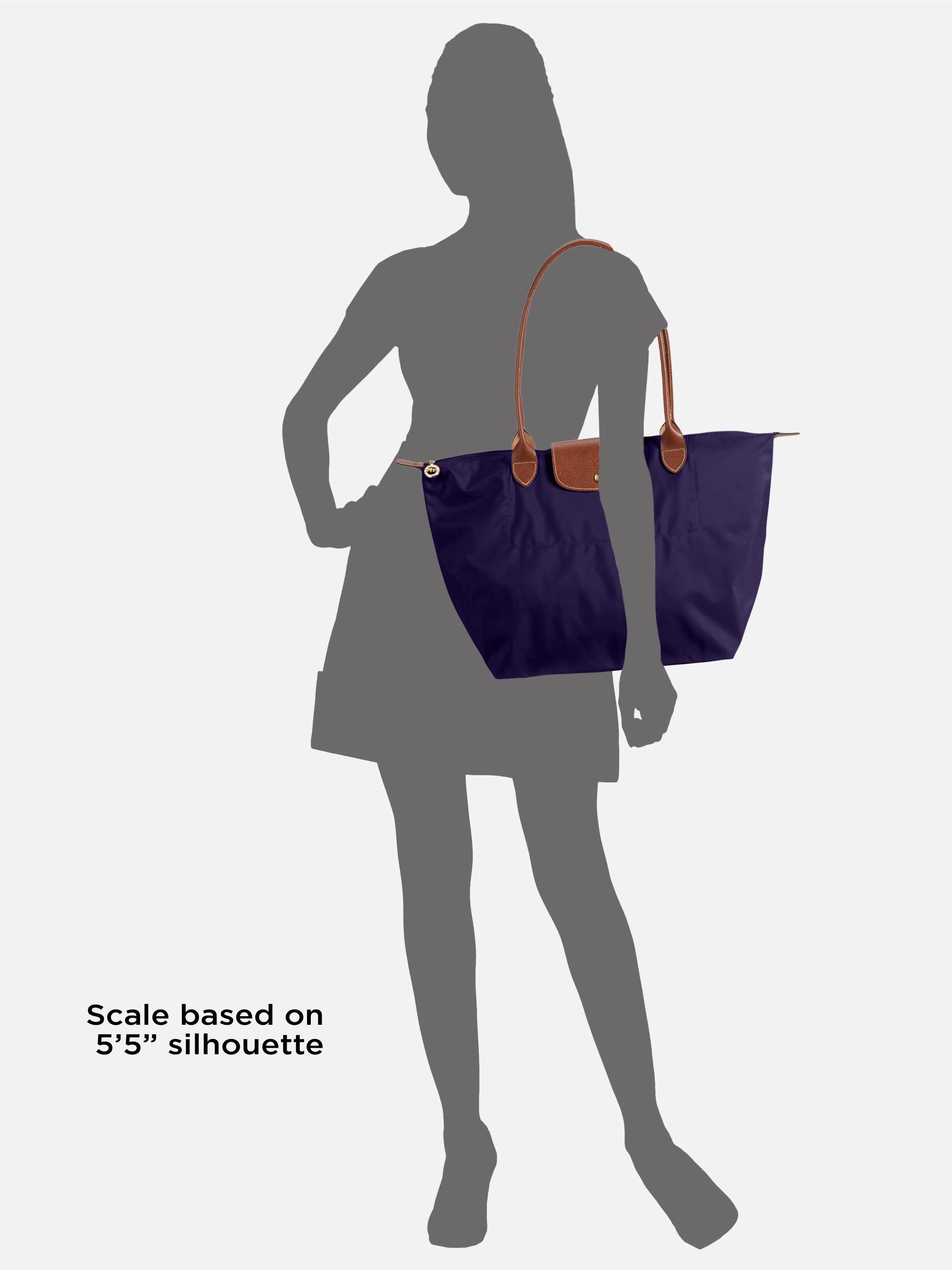 longchamp le pliage large tote bag in brown lyst. Black Bedroom Furniture Sets. Home Design Ideas