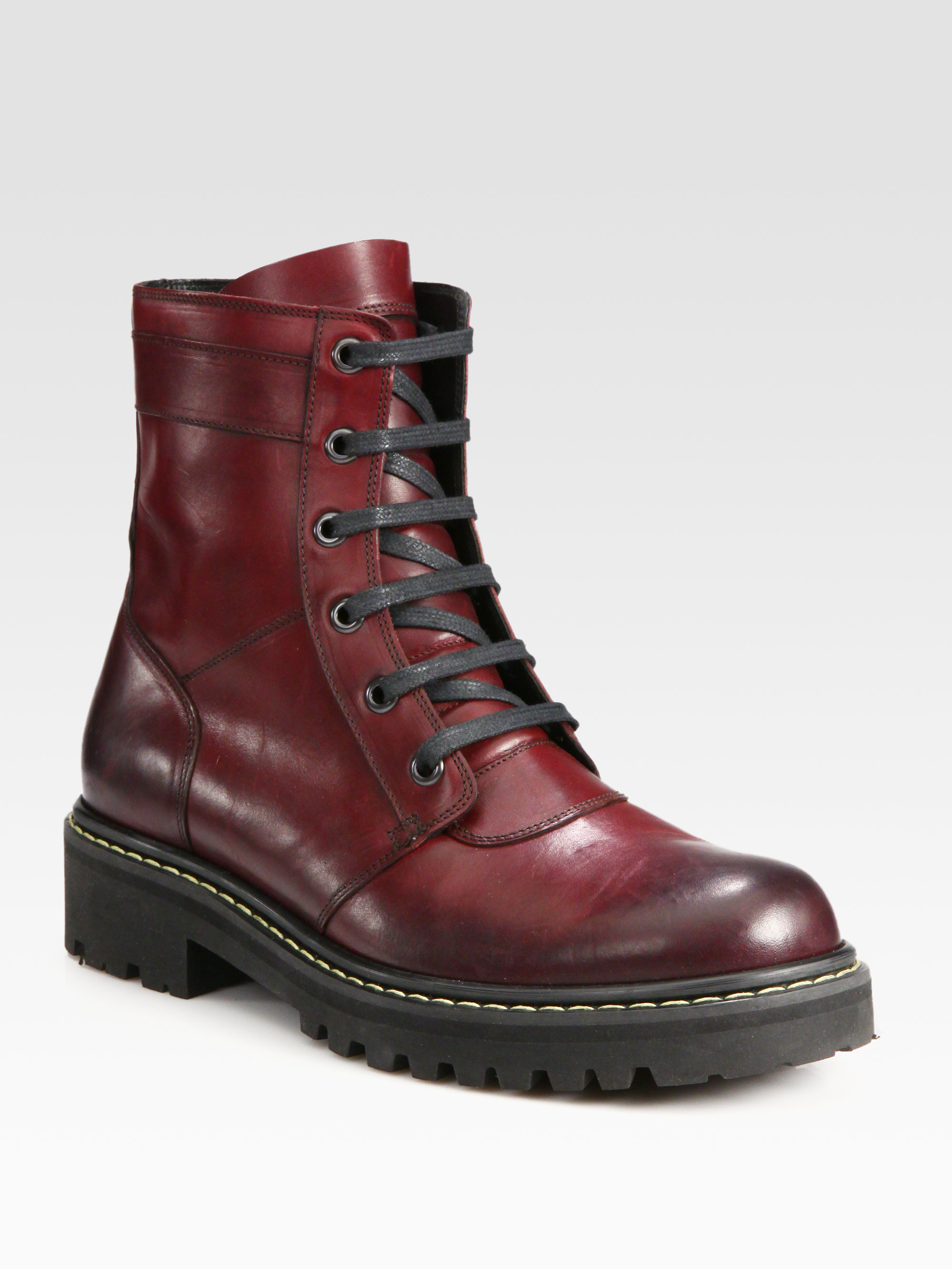 Marc jacobs Leather Boot in Red for Men | Lyst