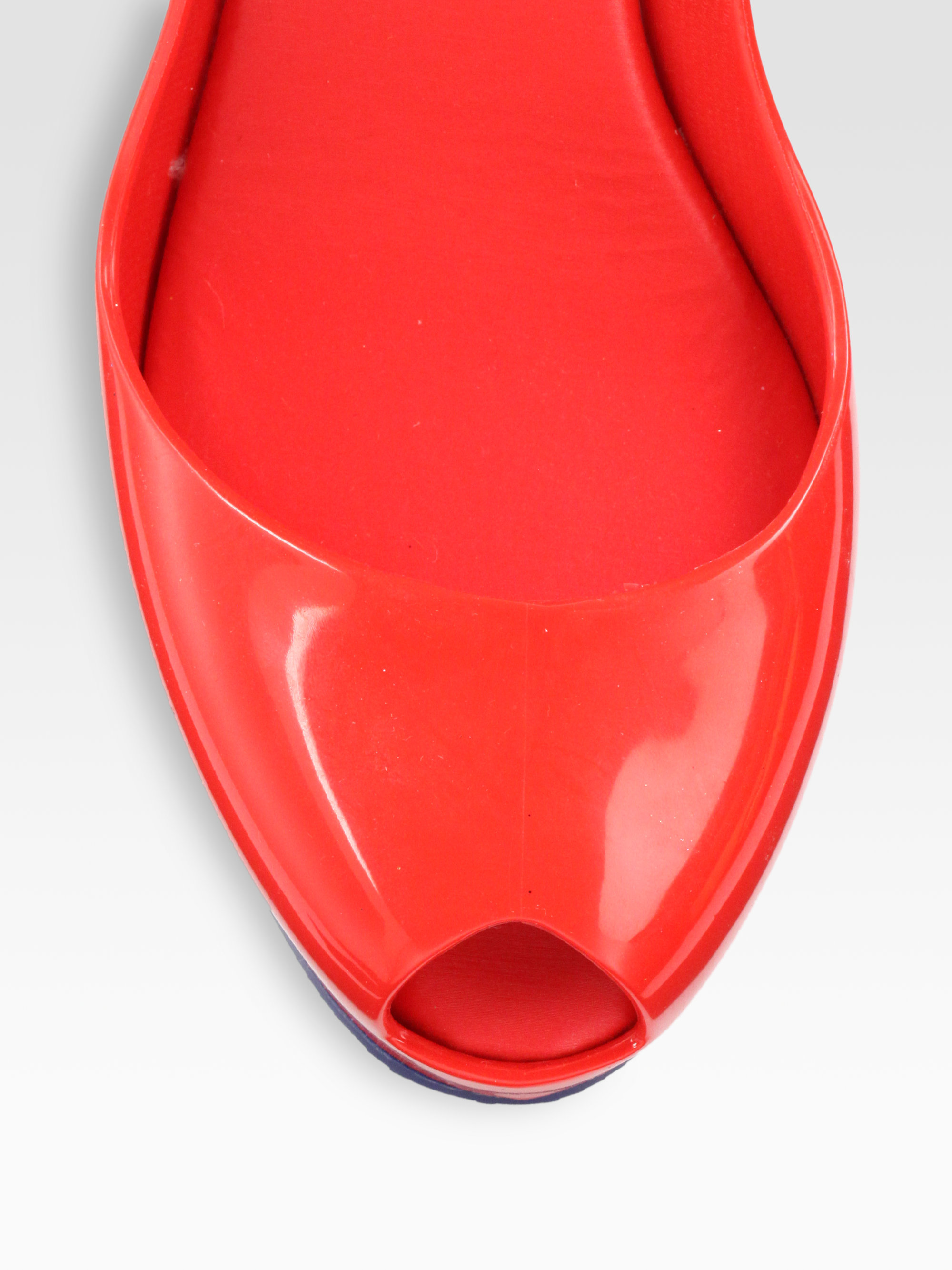 Lyst Melissa Patchuli Jelly Wedge Sandals In Red